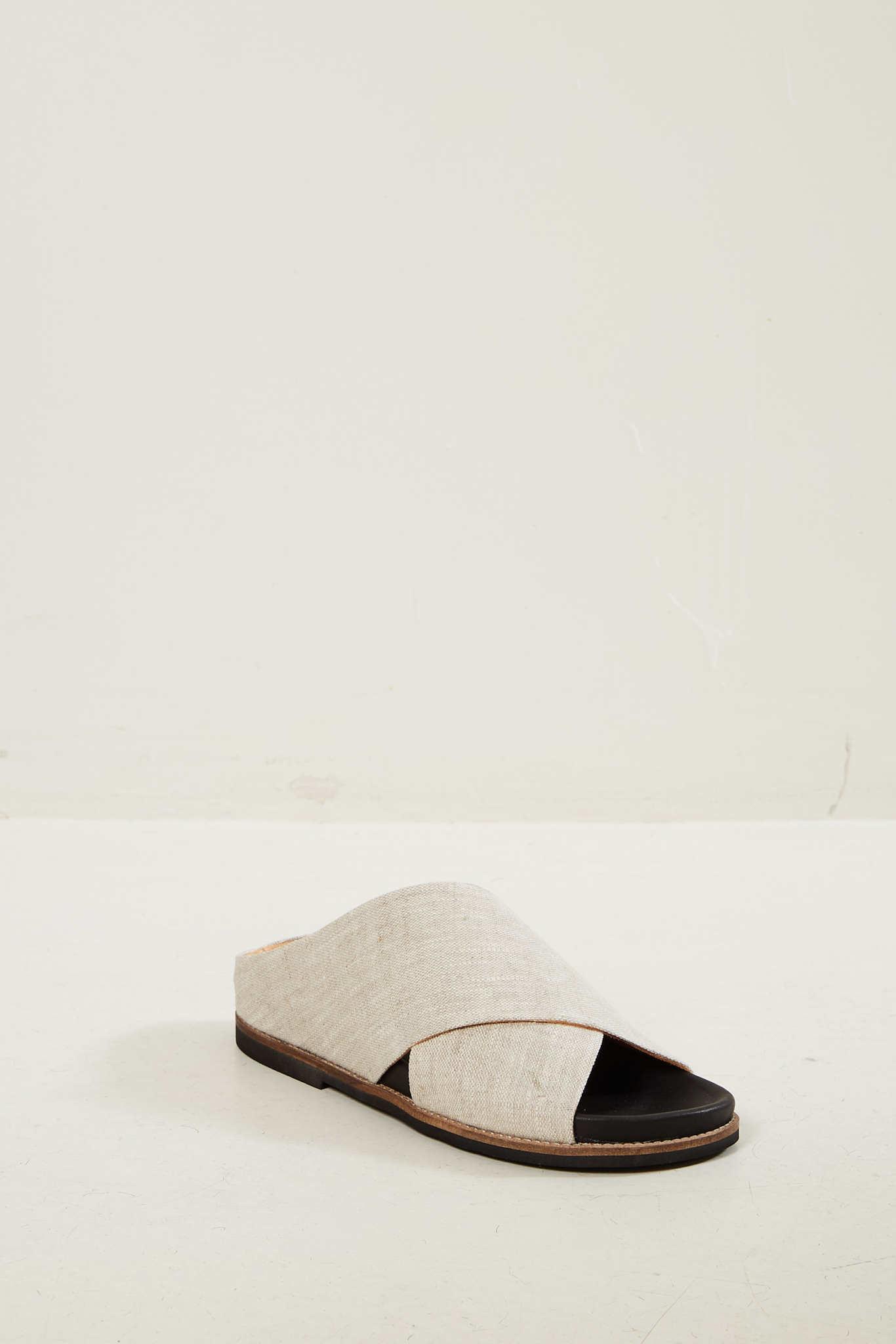 Ganni Flat sandal nature