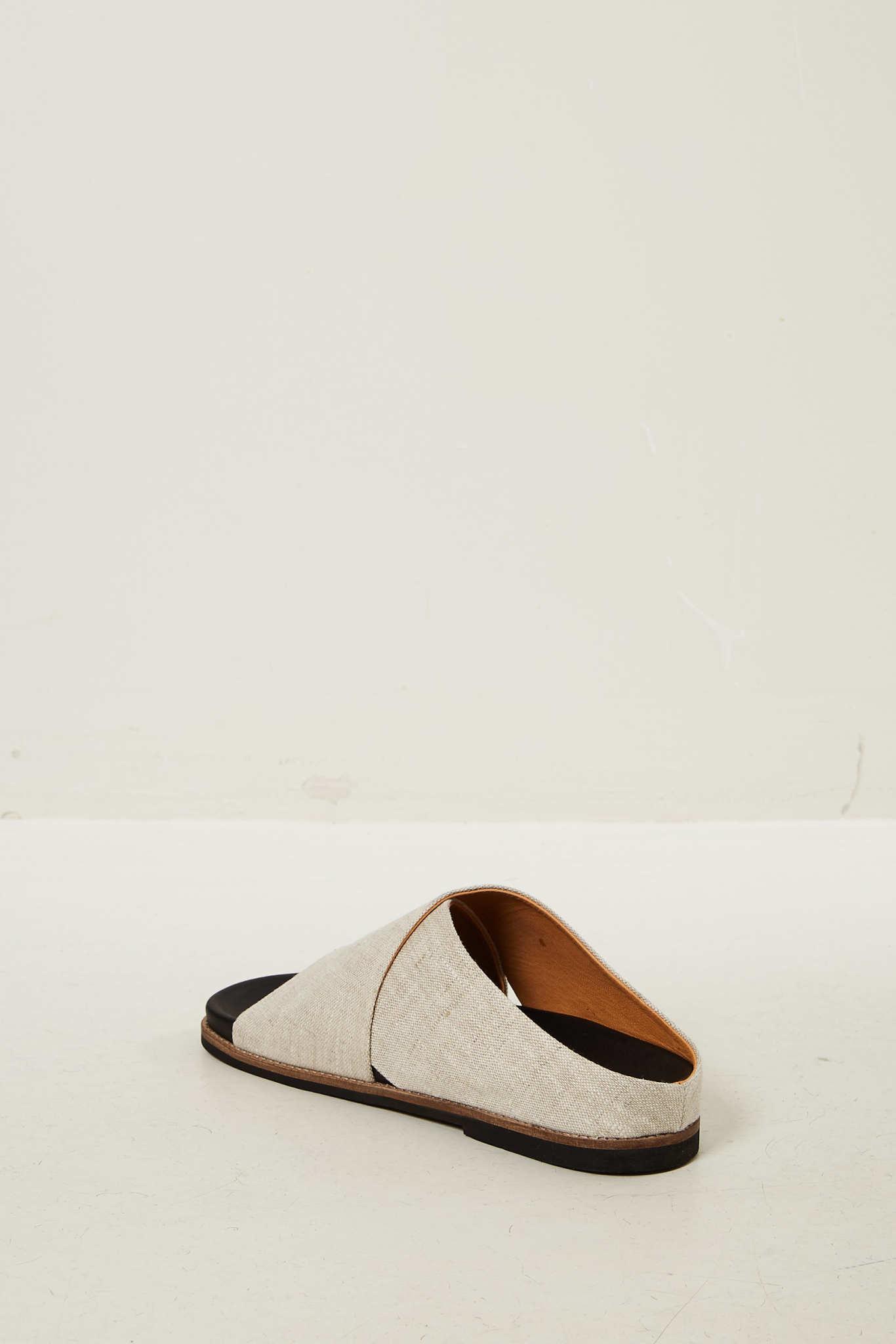 Ganni - Flat sandal nature