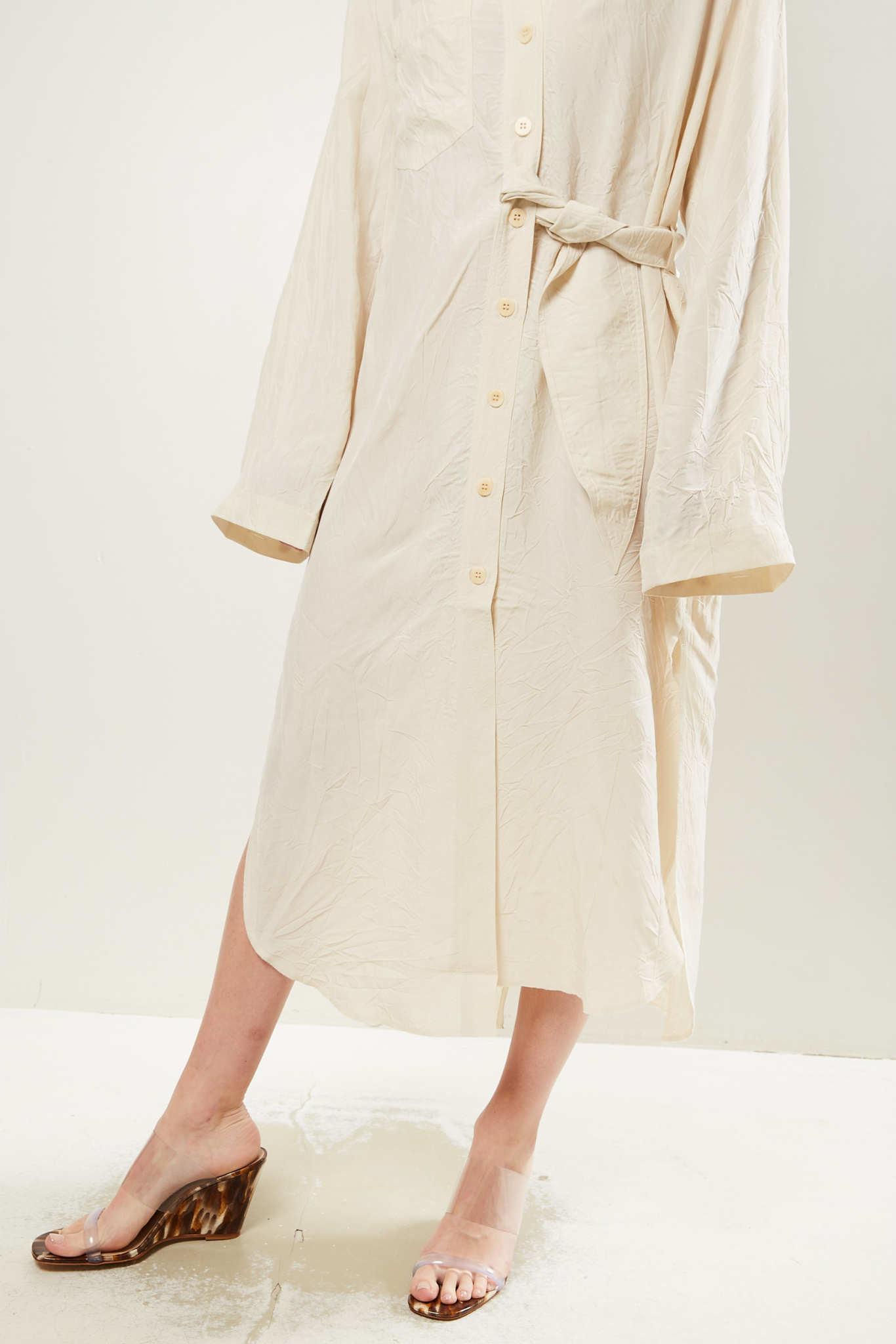 Nanushka - Mona wrinkled shirt dress