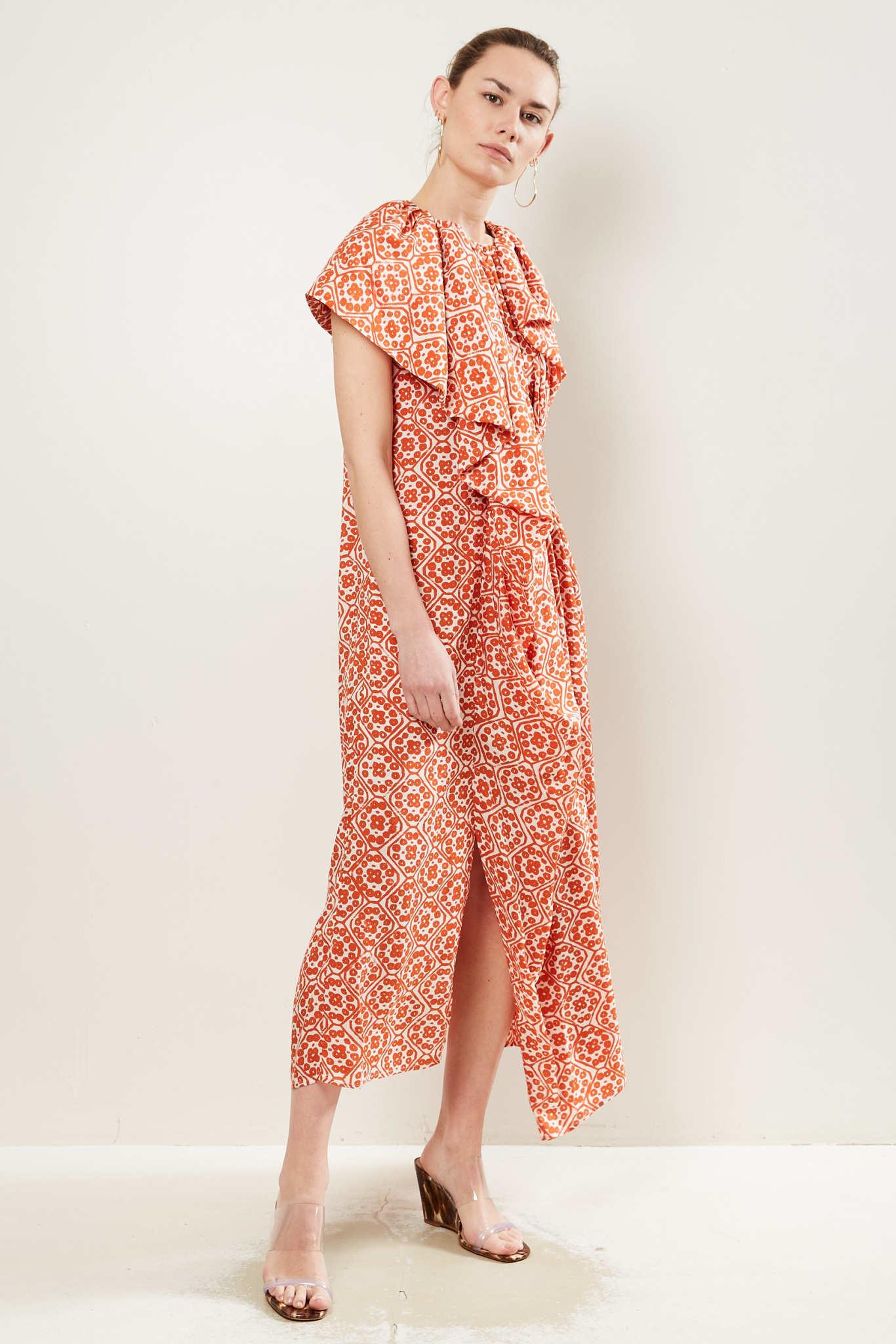 Christian Wijnants Diji silk blend dress.
