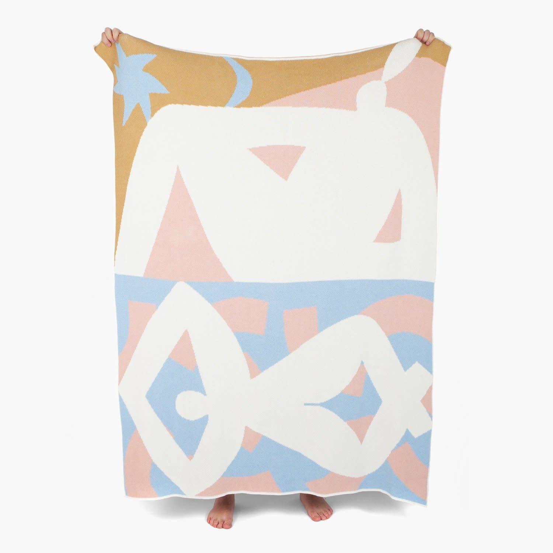 slowdown studio Redding Knit Blanket