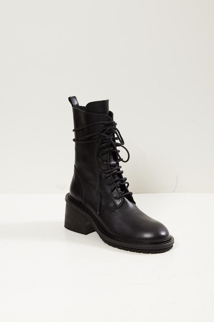 Ann Demeulemeester 100% leather boots nero