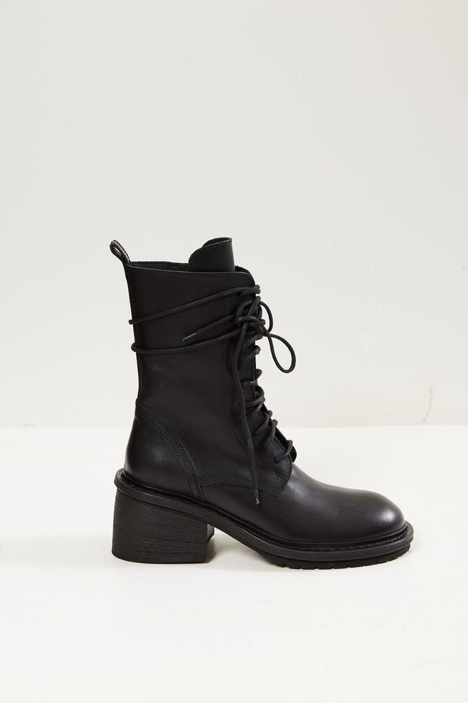 Ann Demeulemeester - 100% leather boots nero