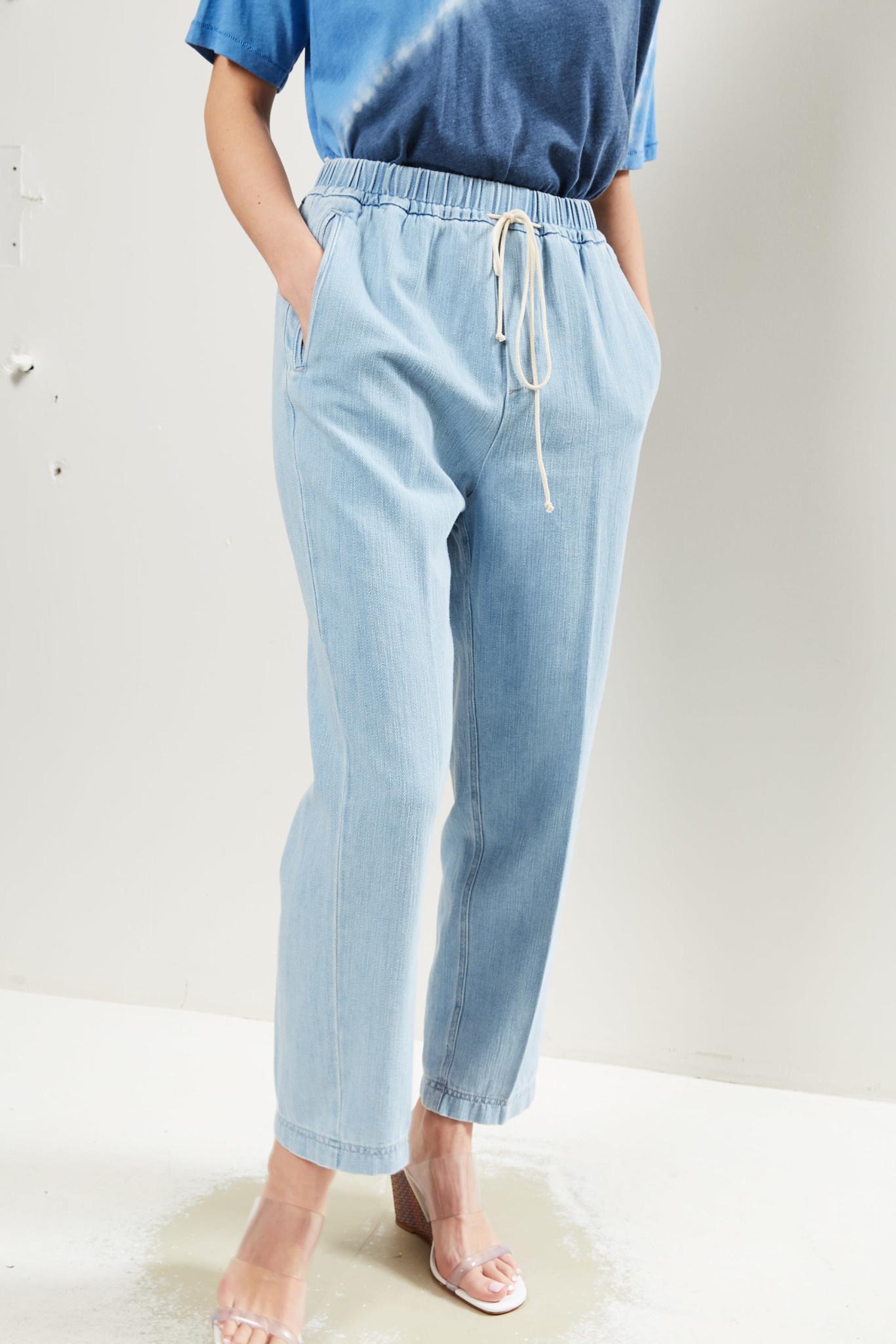 Forte Forte Calvary cotton denim elasticated pants