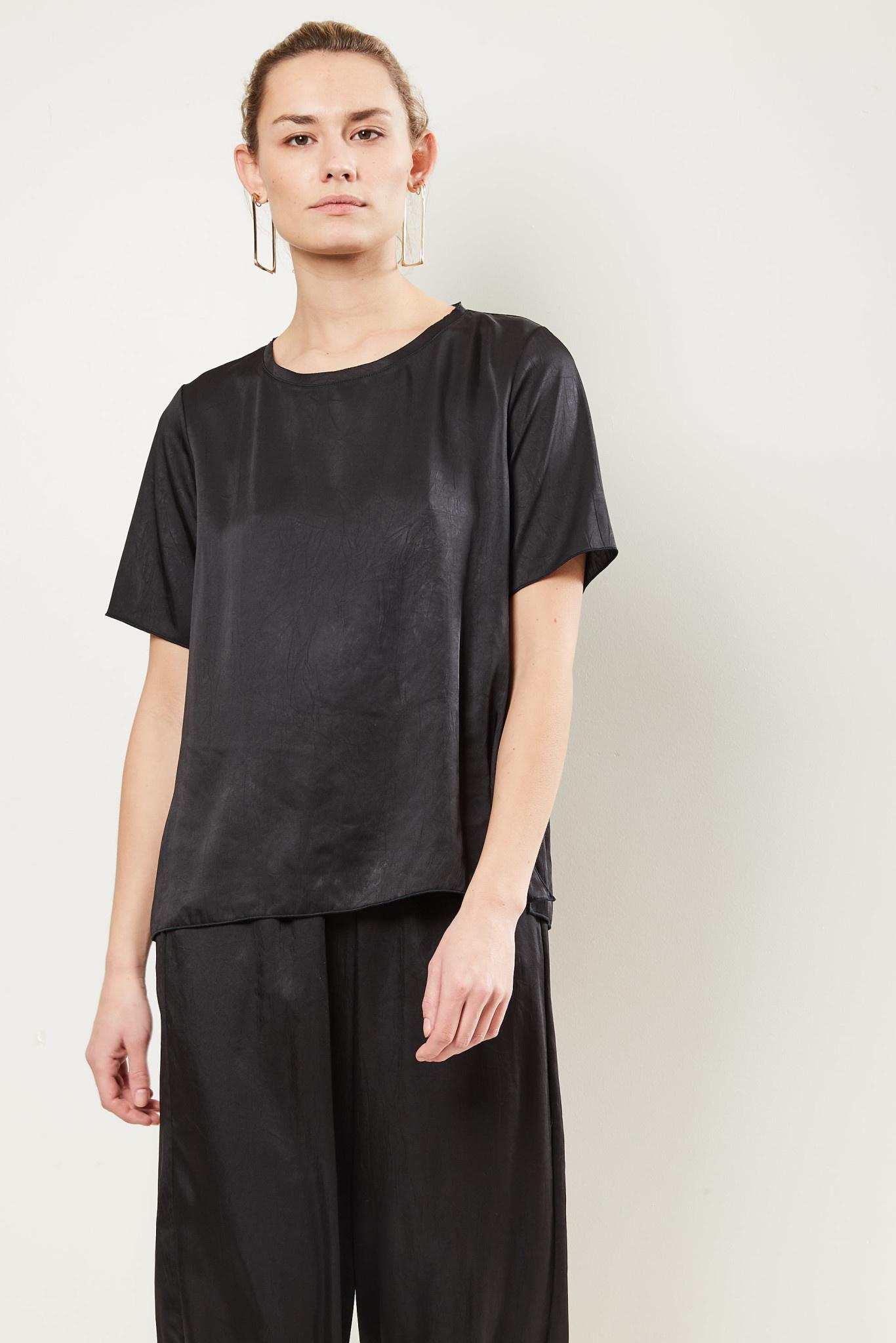 Forte Forte Box-fit T-shirt nero.