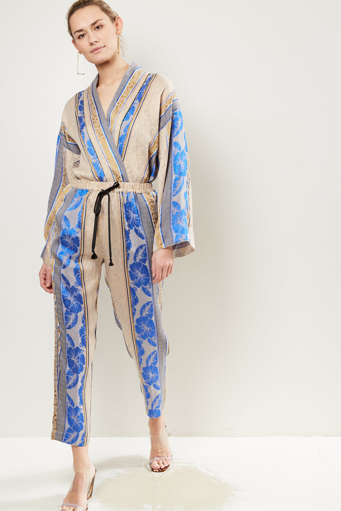 Forte Forte Paneled pattern cropped trousers.