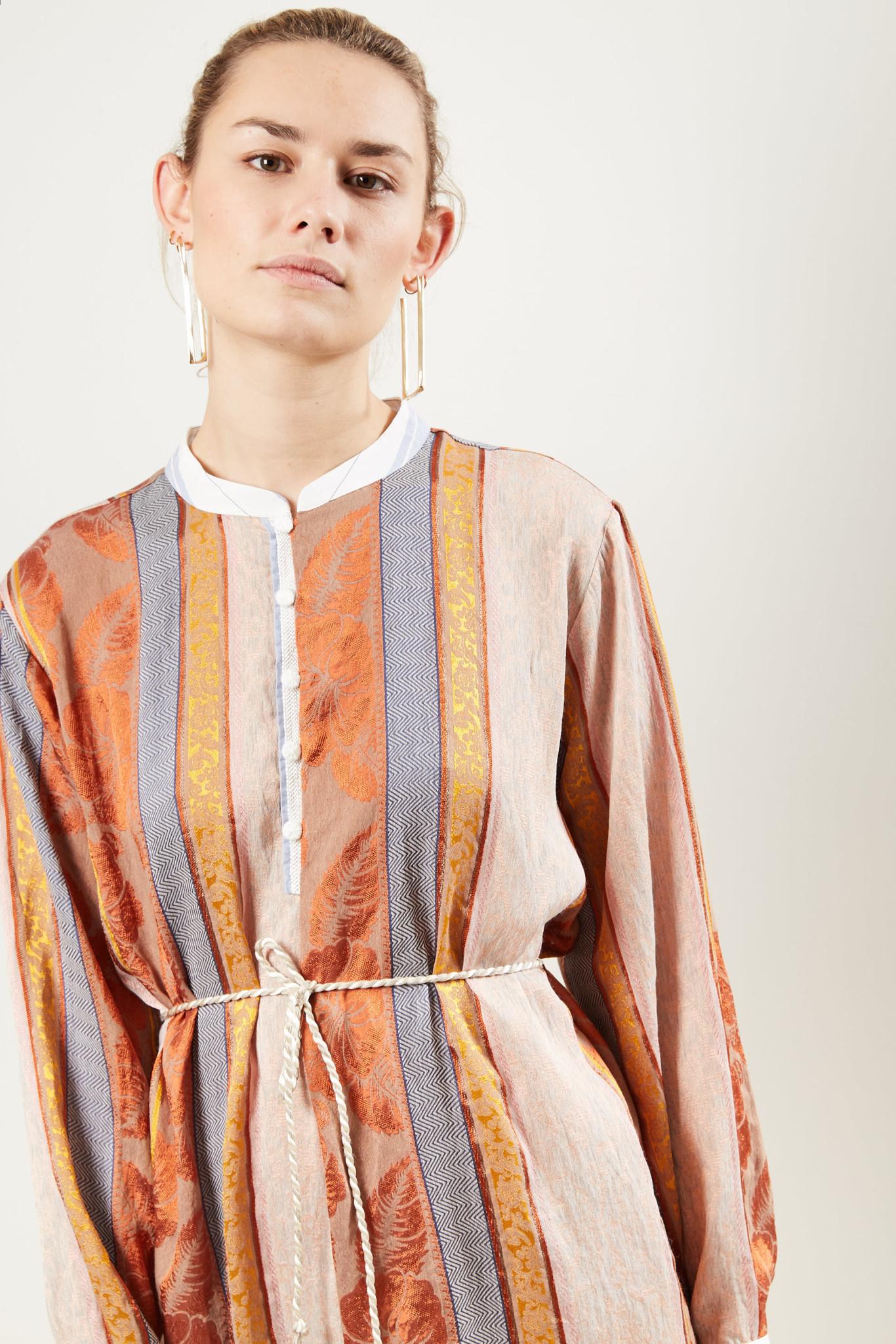 Forte Forte - Patchwork long sleeve dress.