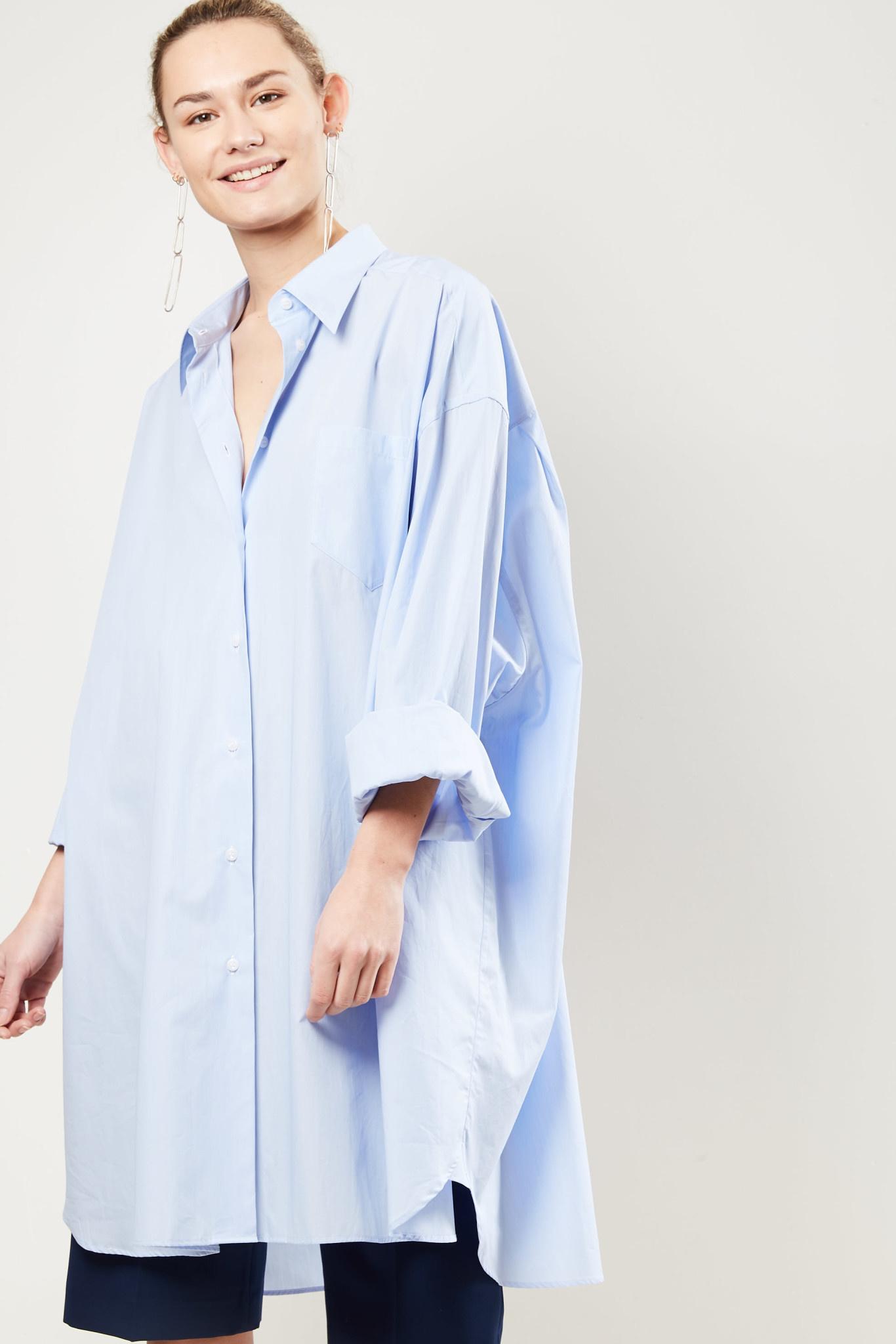 Maison Margiela Asymmetric longline shirt.
