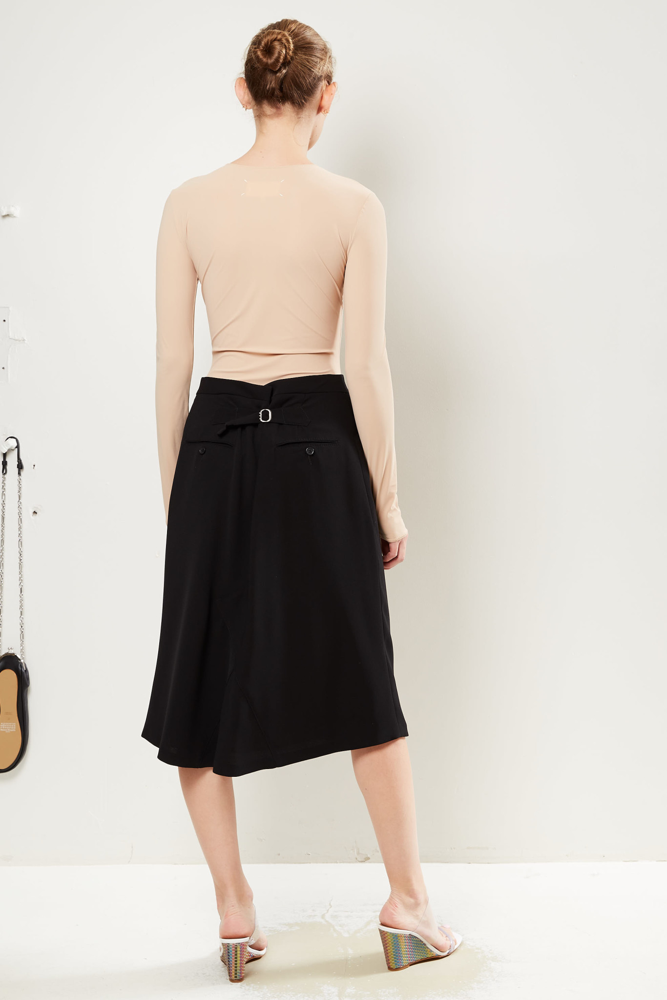 Maison Margiela High waisted midi skirt.