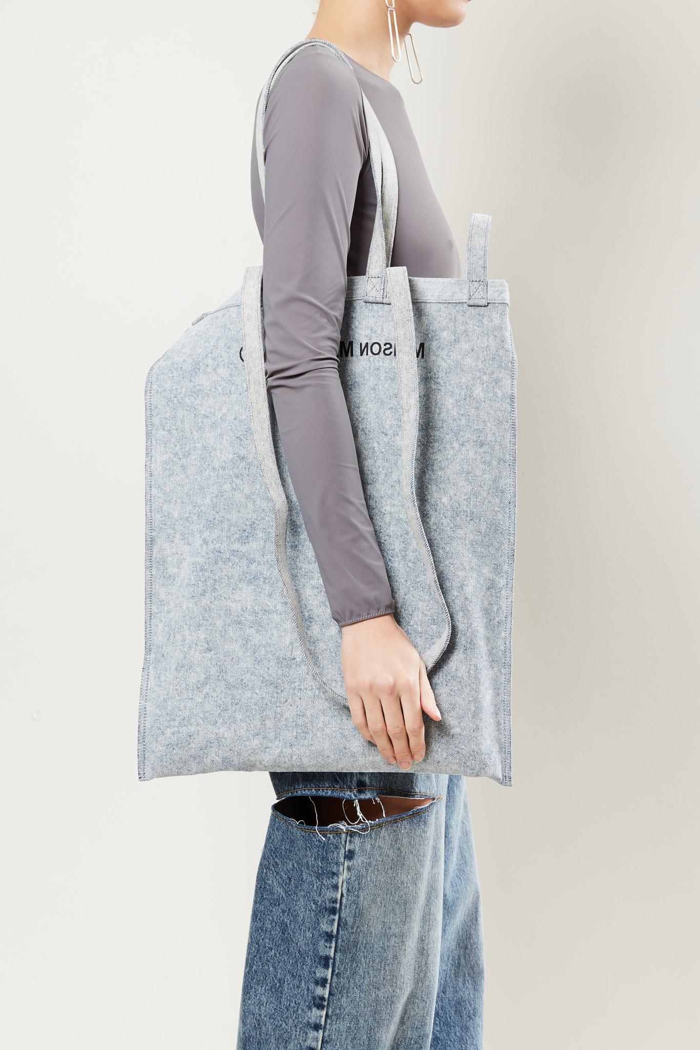 MM6 - Shopping bag washed denim