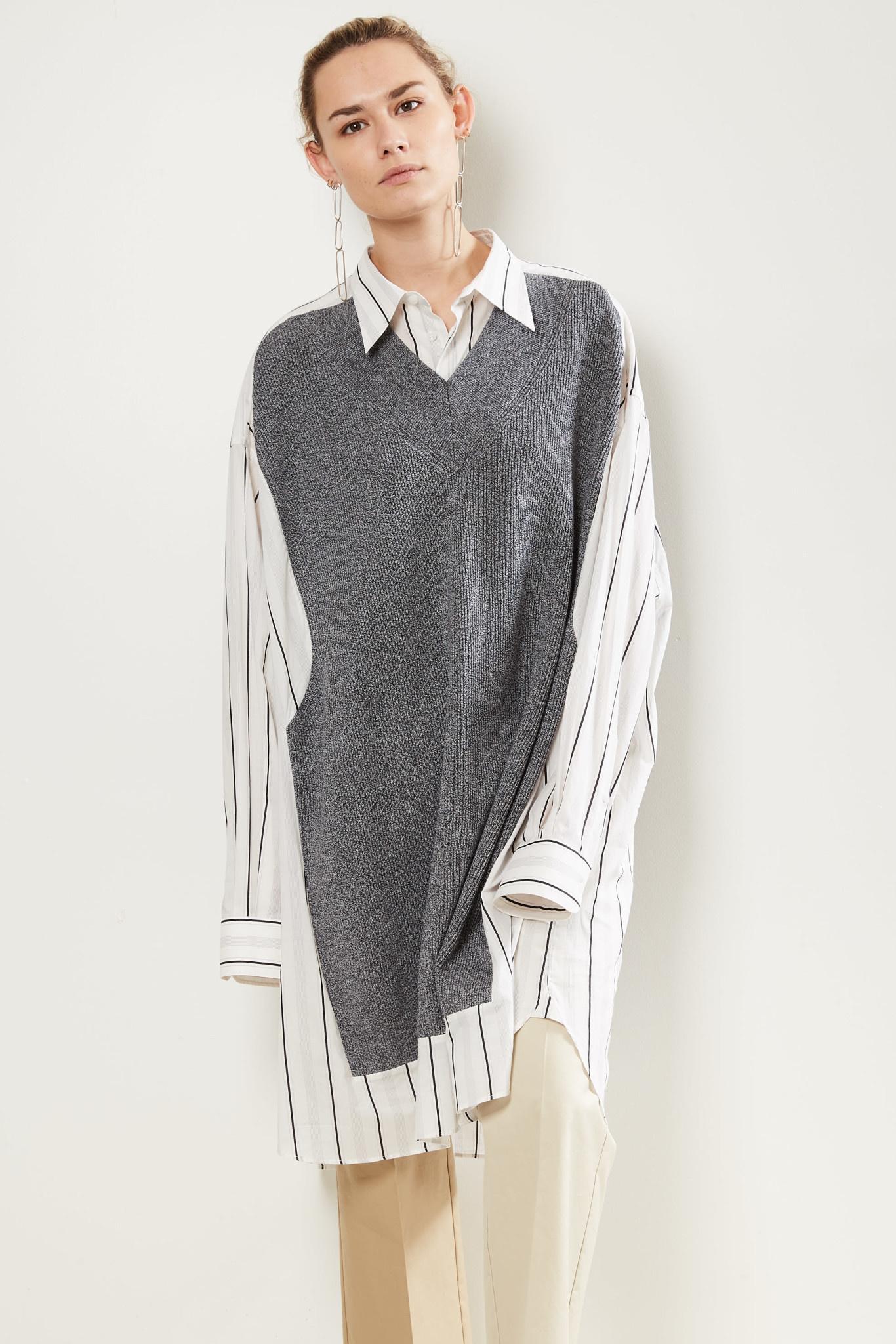 Maison Margiela Knitted tank striped shirt.