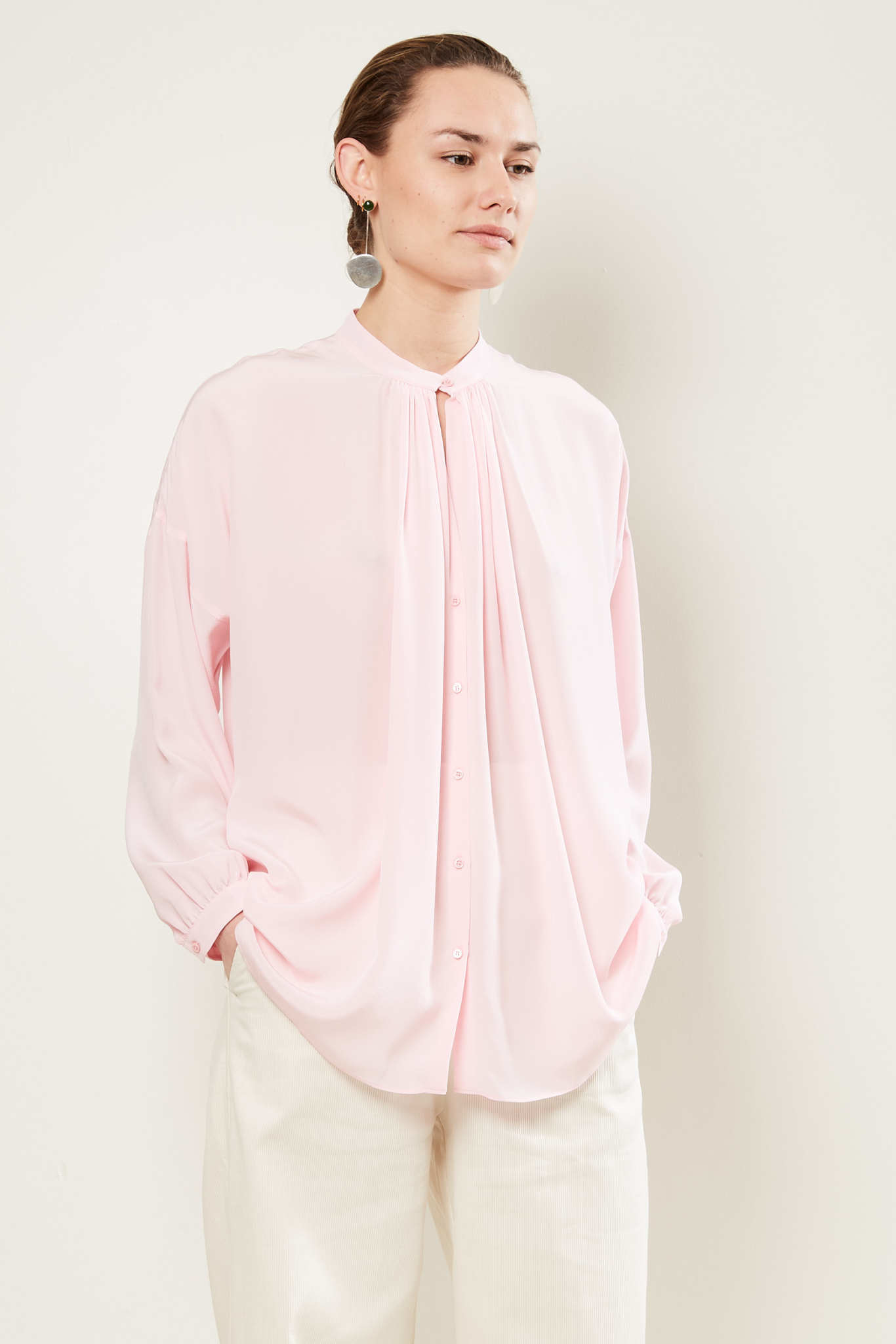 inDRESS - Draped blouse