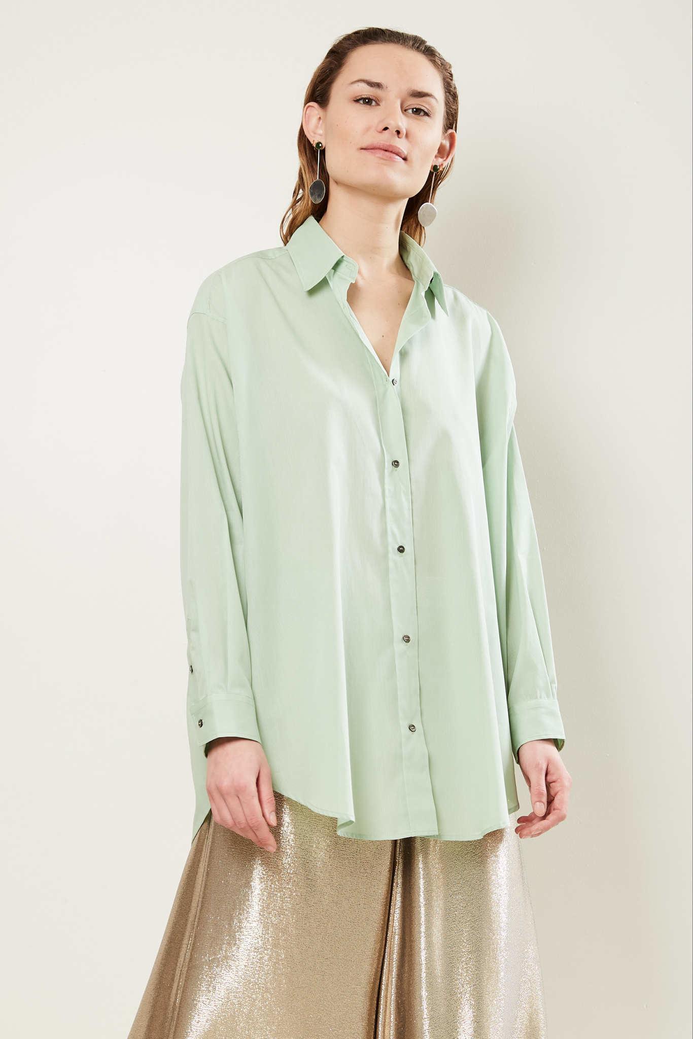 inDRESS - Oversize cotton shirt