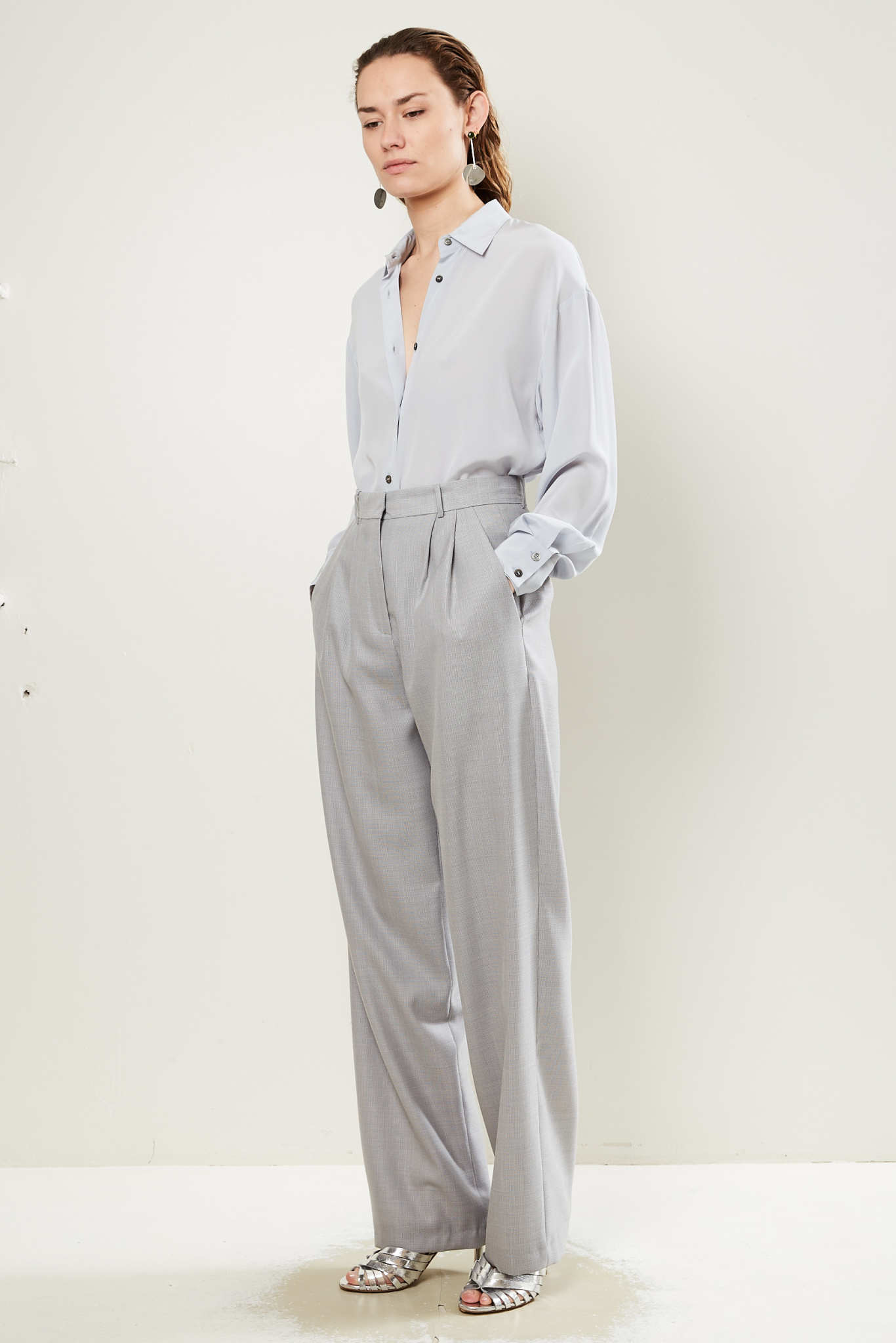 inDRESS - Panama wool pants