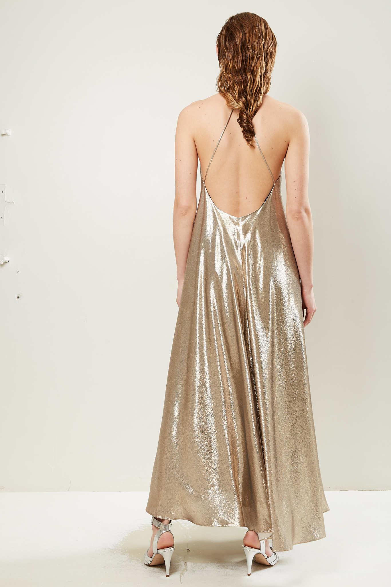 inDRESS Plain lurex dress
