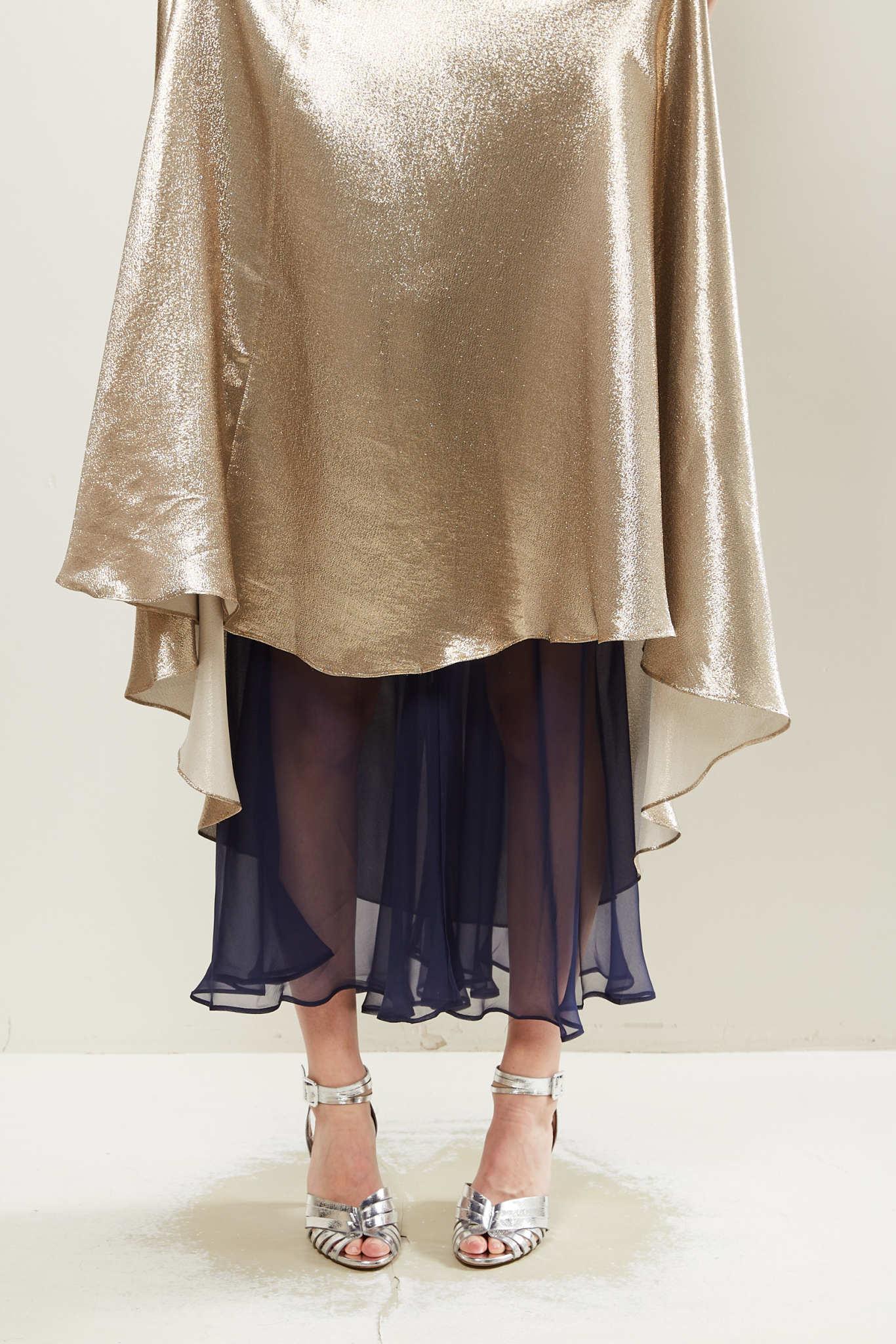 inDRESS - Plain lurex dress