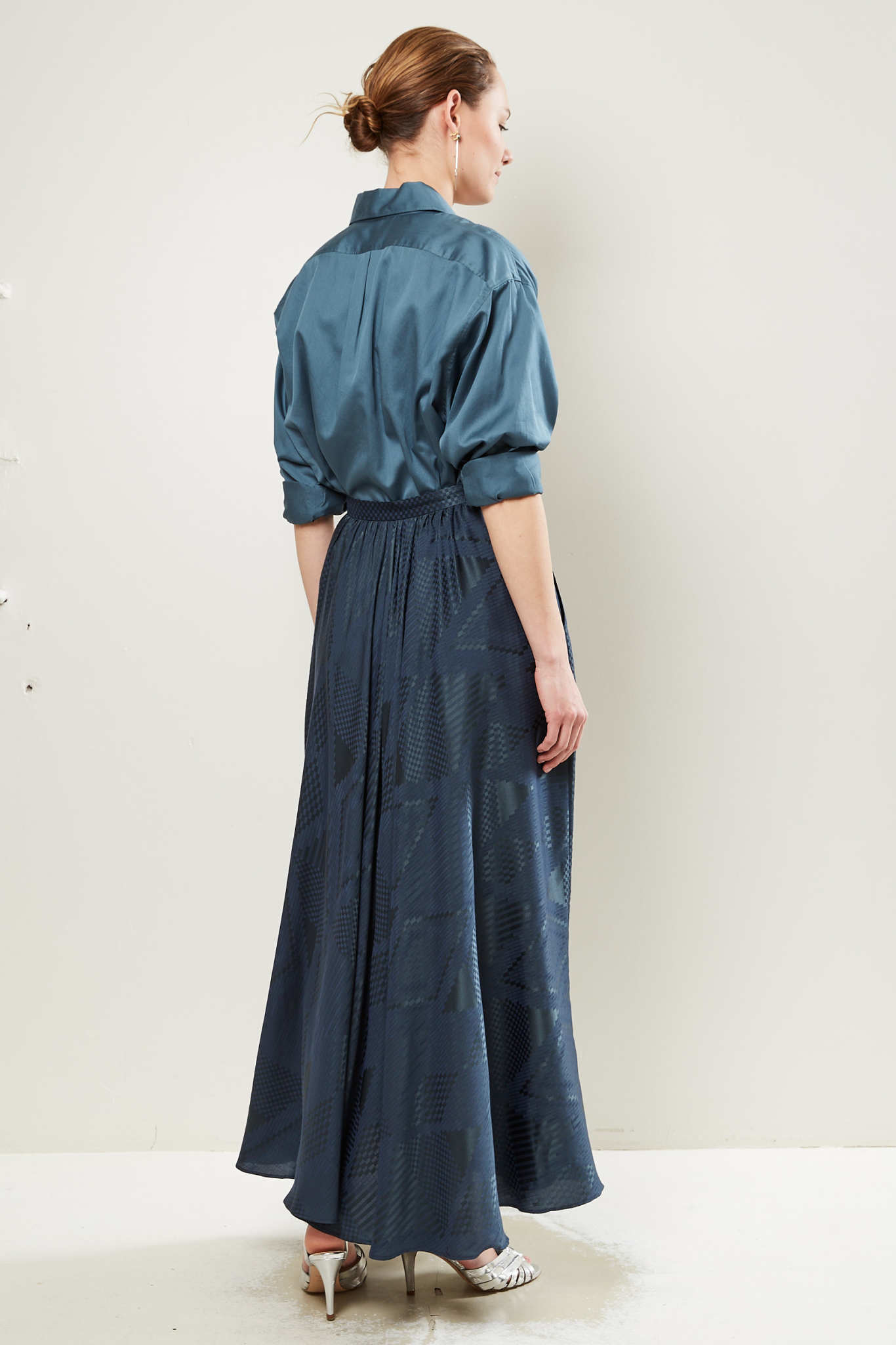 inDRESS - Silk jaquard skirt