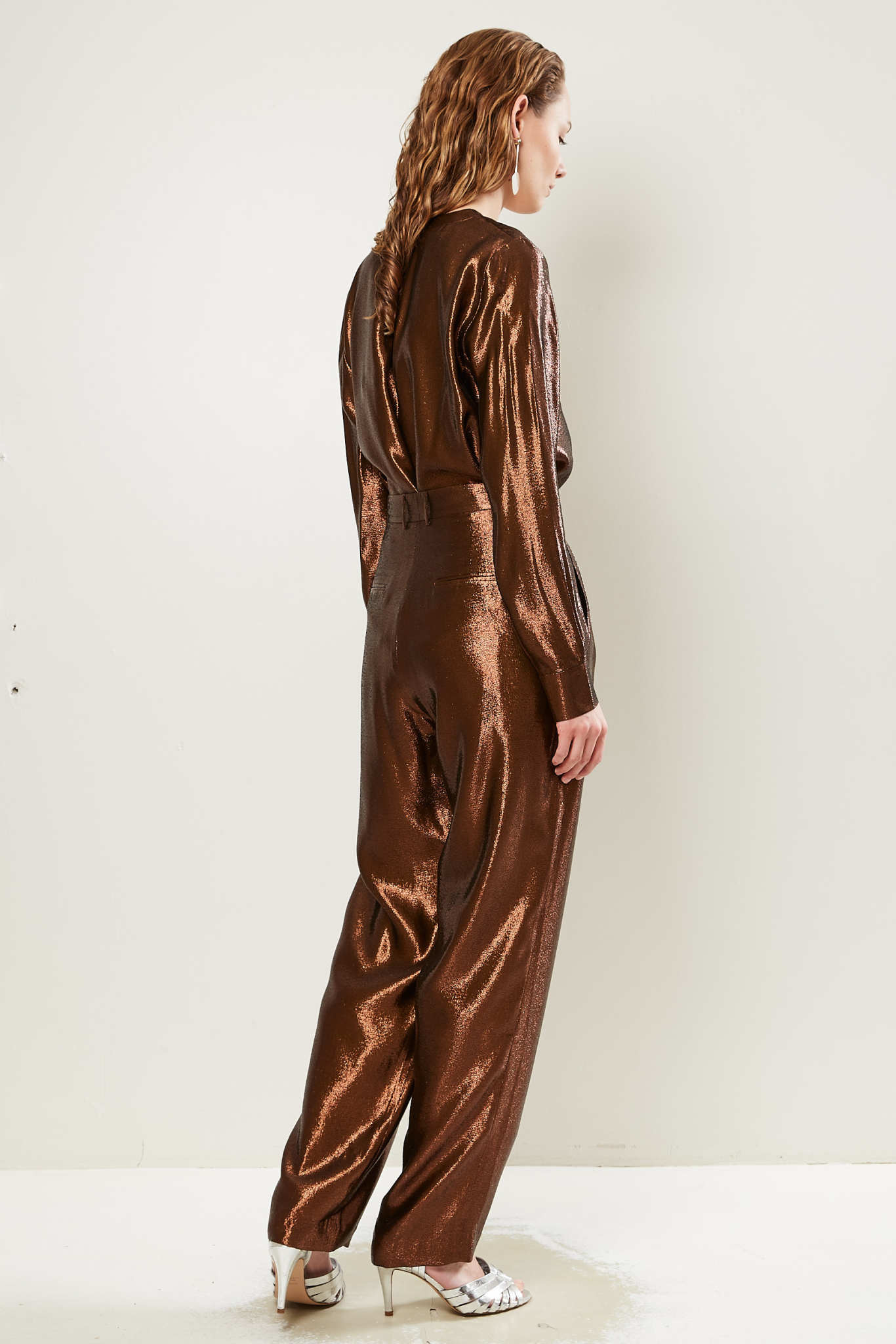 inDRESS - Silk lurex large pants