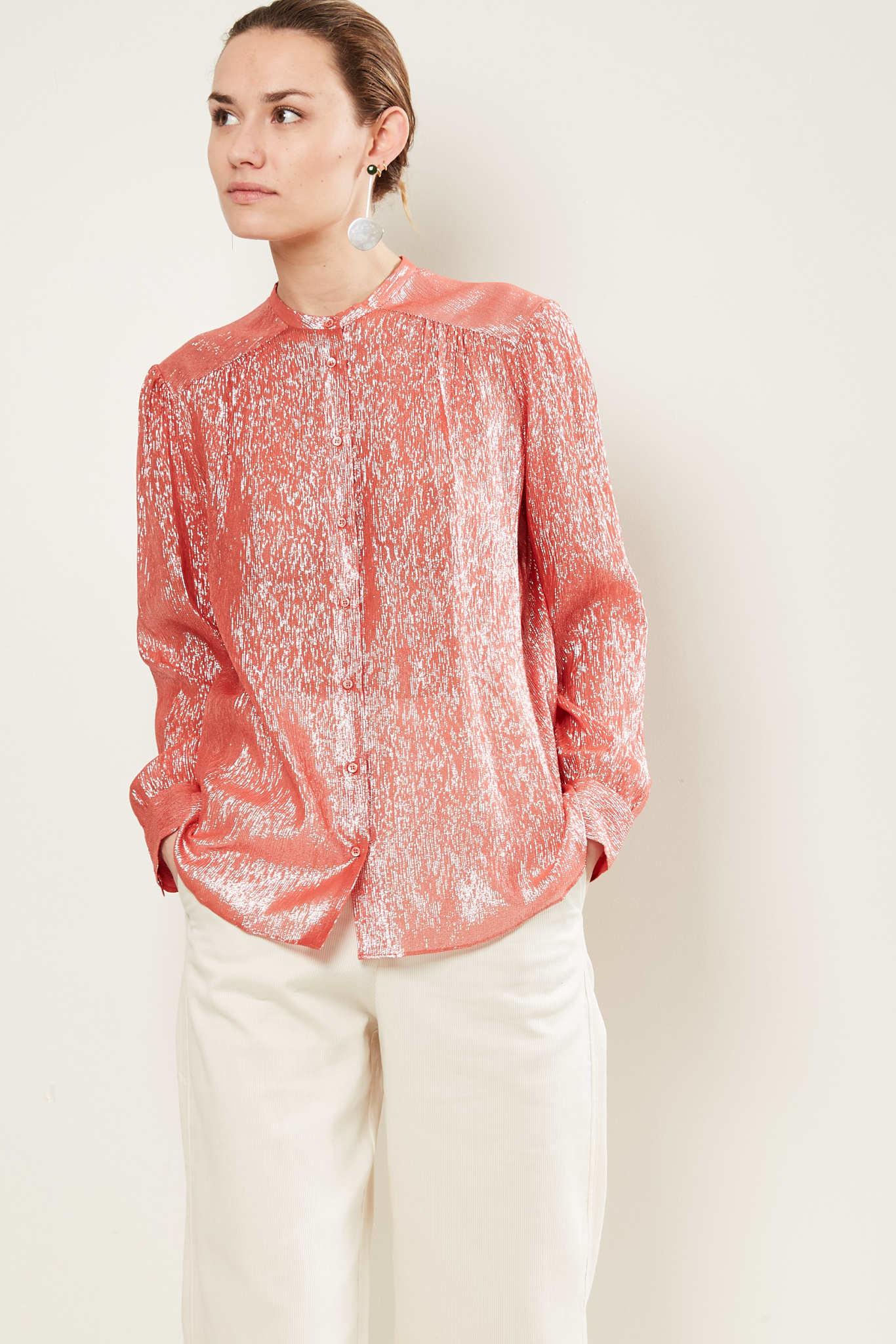 inDRESS Sparkling lurex blouse