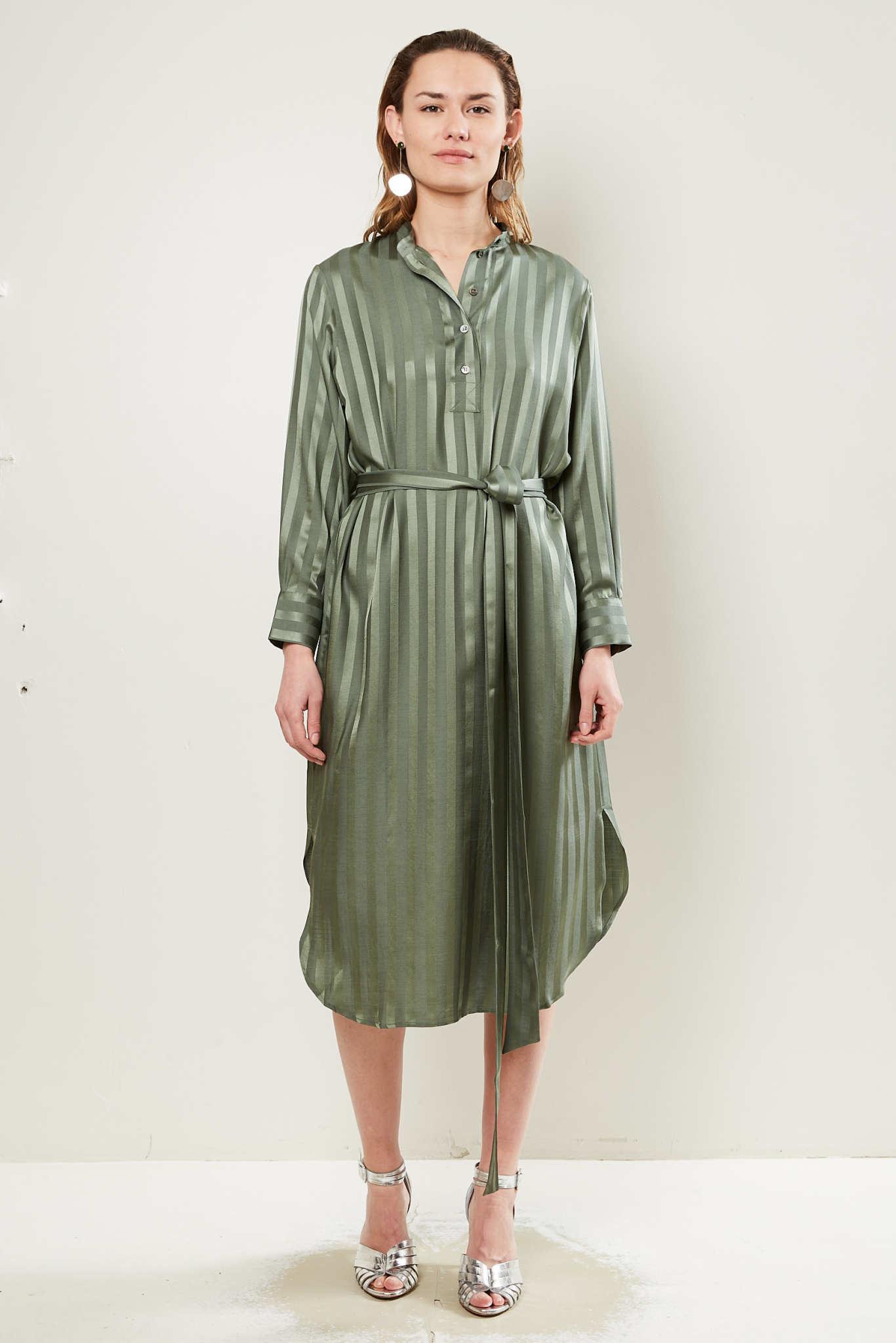 inDRESS Striped shirt dress