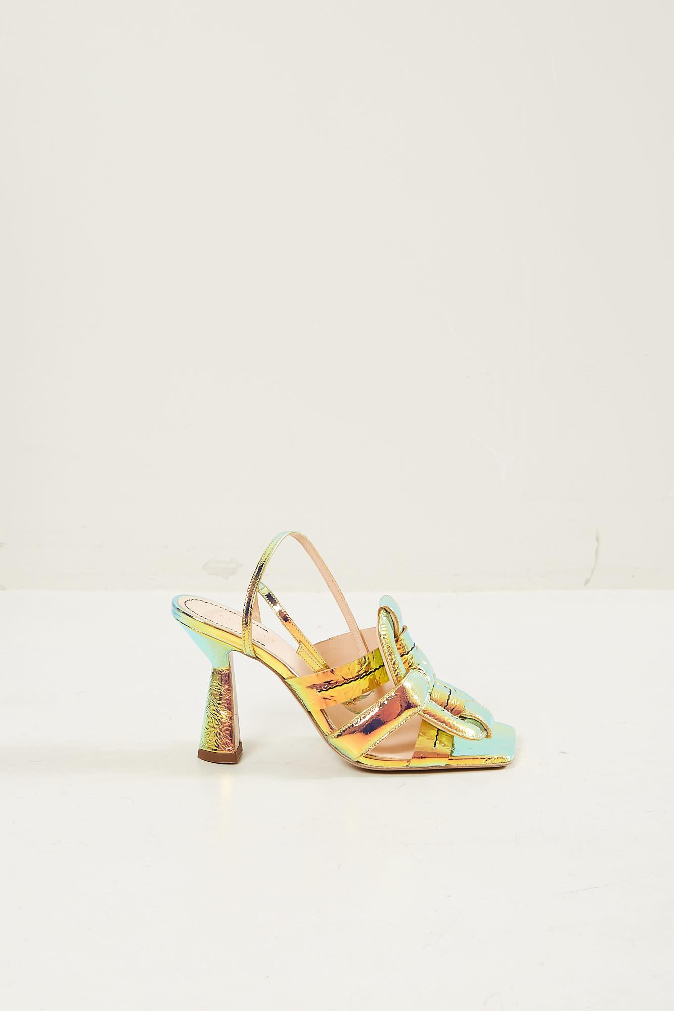 Morobé - Celestine laminated leather sandals
