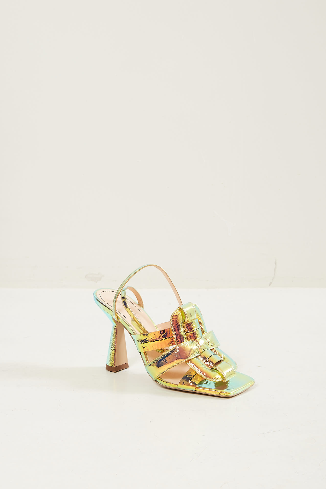 Morobé Celestine laminated leather sandals