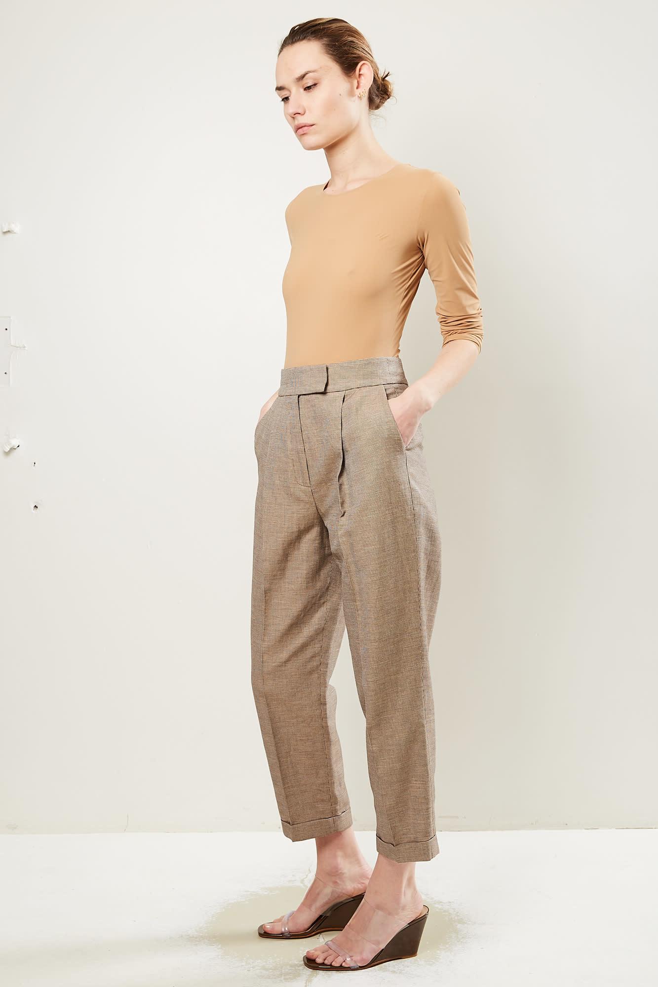 Frenken - Weel check suit trousers