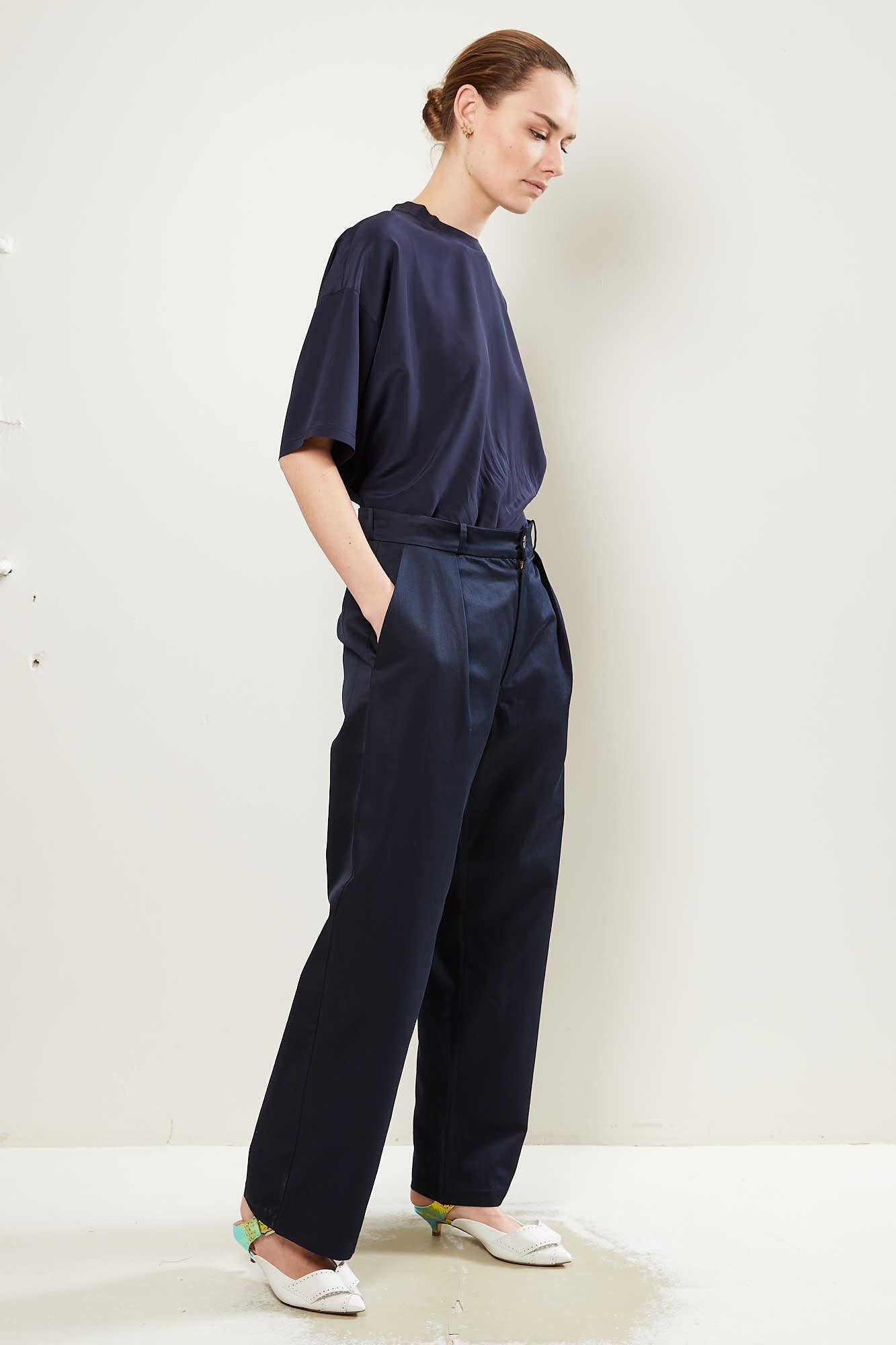 Monique van Heist Natasja cotton linnen straight pants