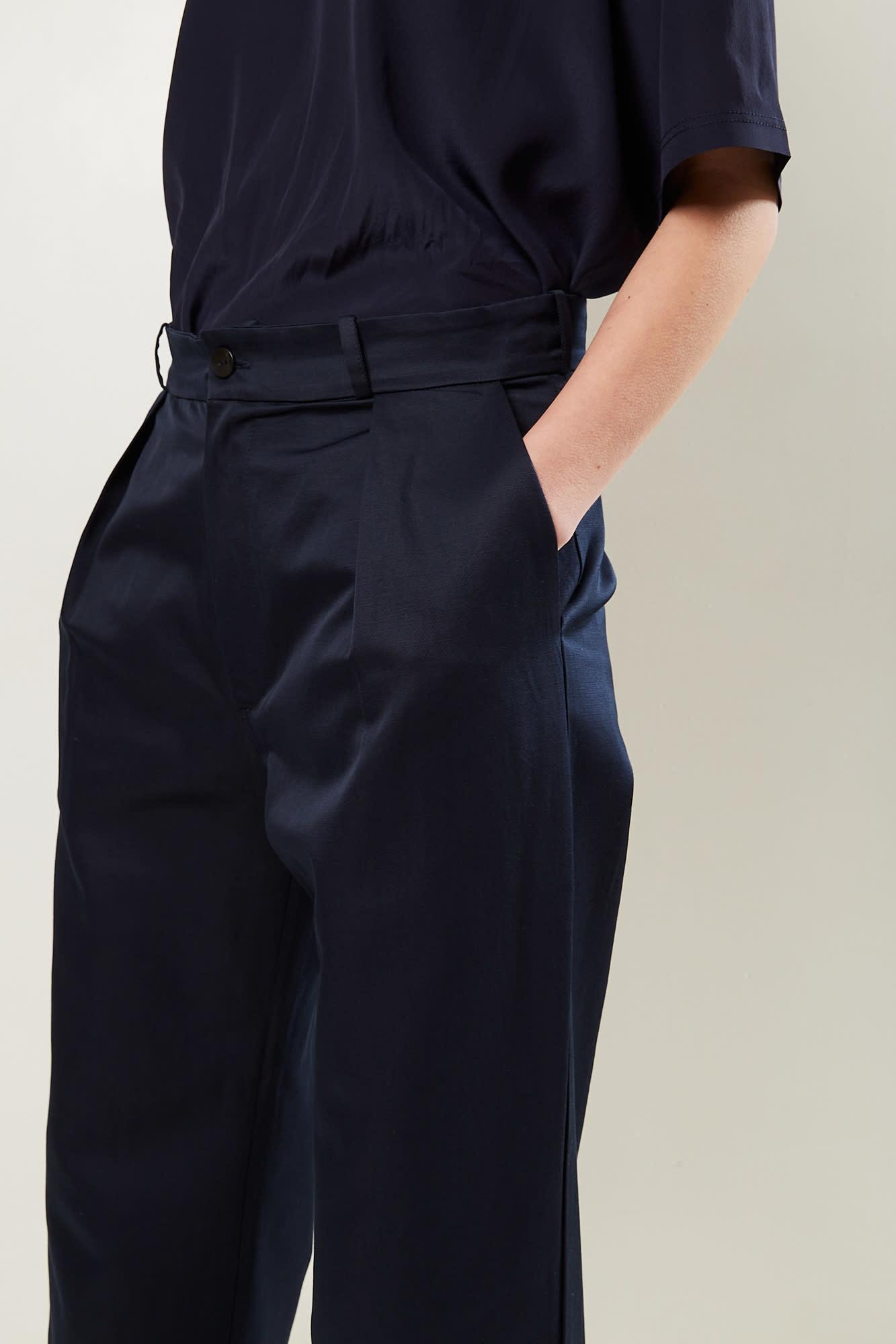 Monique van Heist - Natasja cotton linnen straight pants