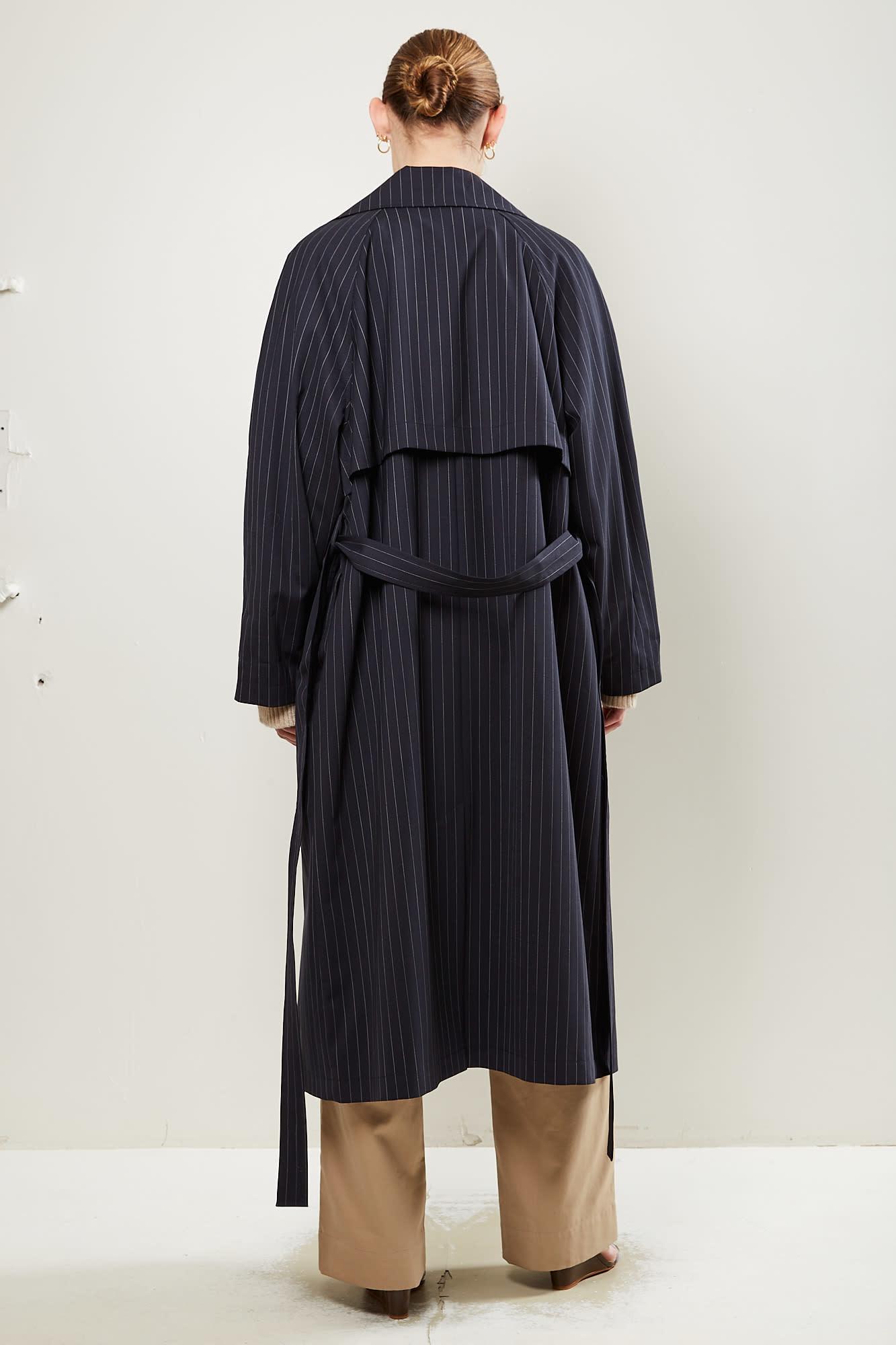 Gauge81 - nairobi pinstripe trench coat