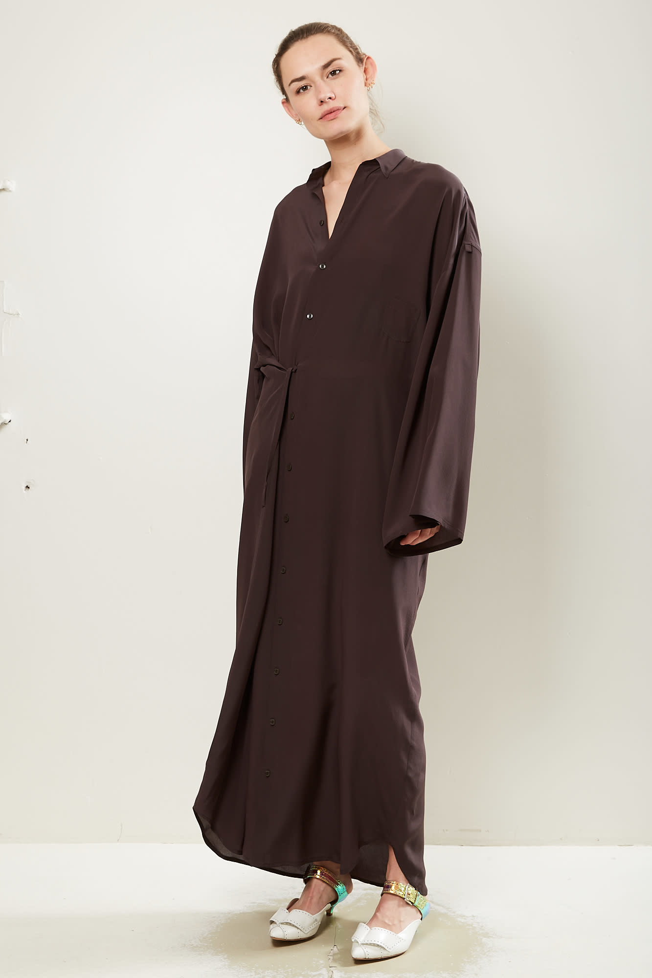 Monique van Heist NO10 long silk dress
