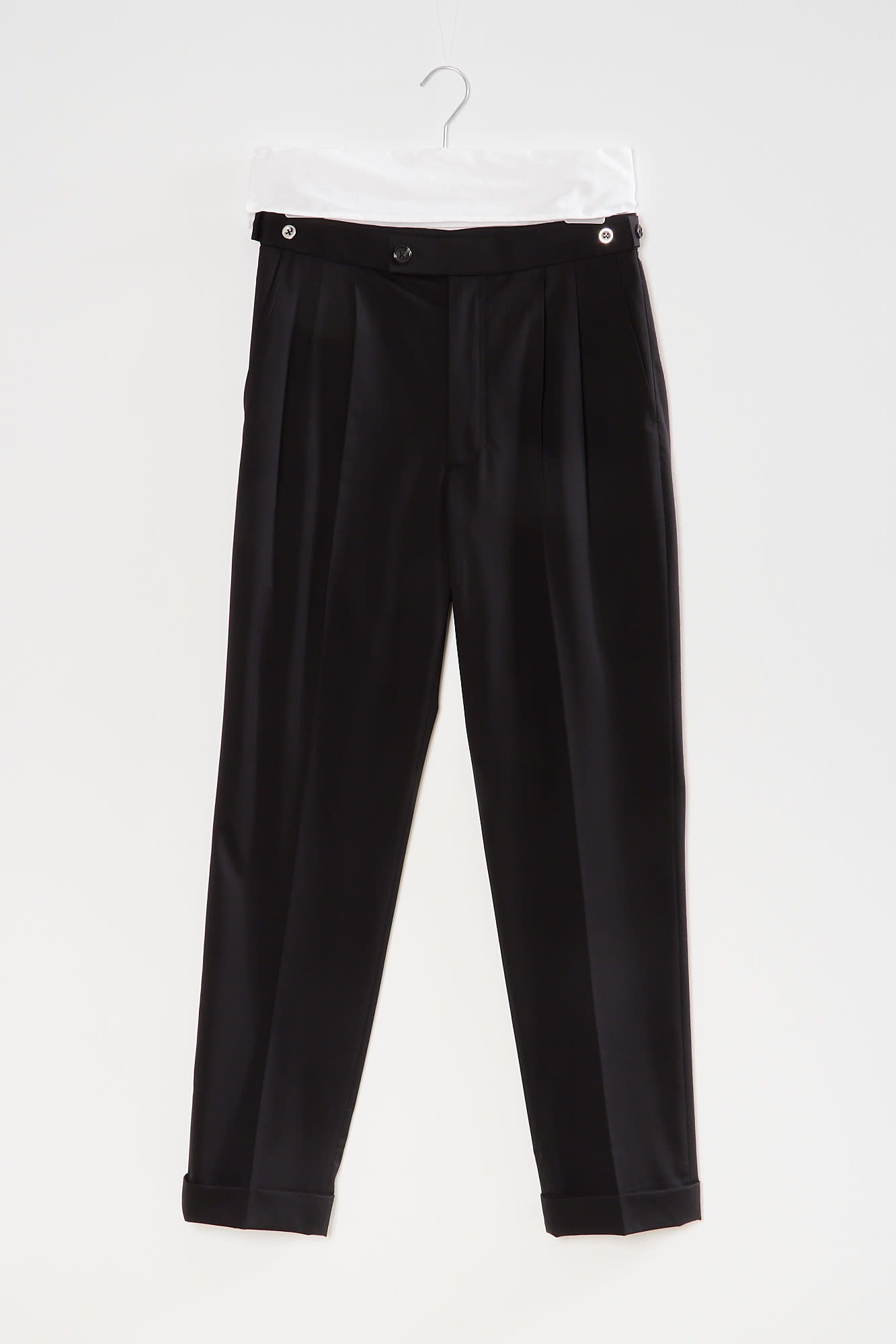 Helmut Lang pleated tapered pant