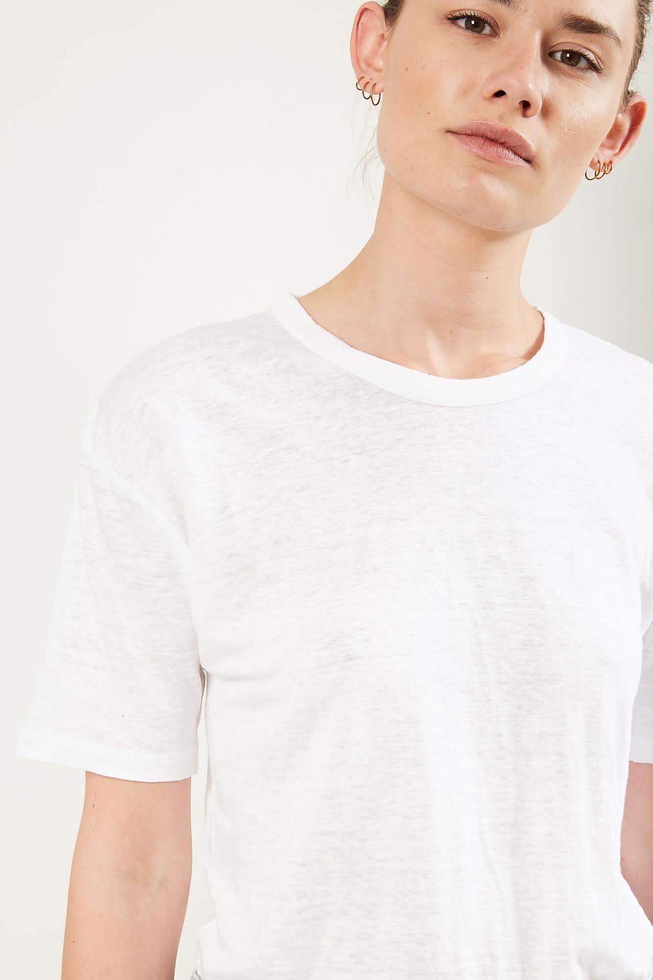 Etoile Isabel Marant - keiran tee shirt 20wh white