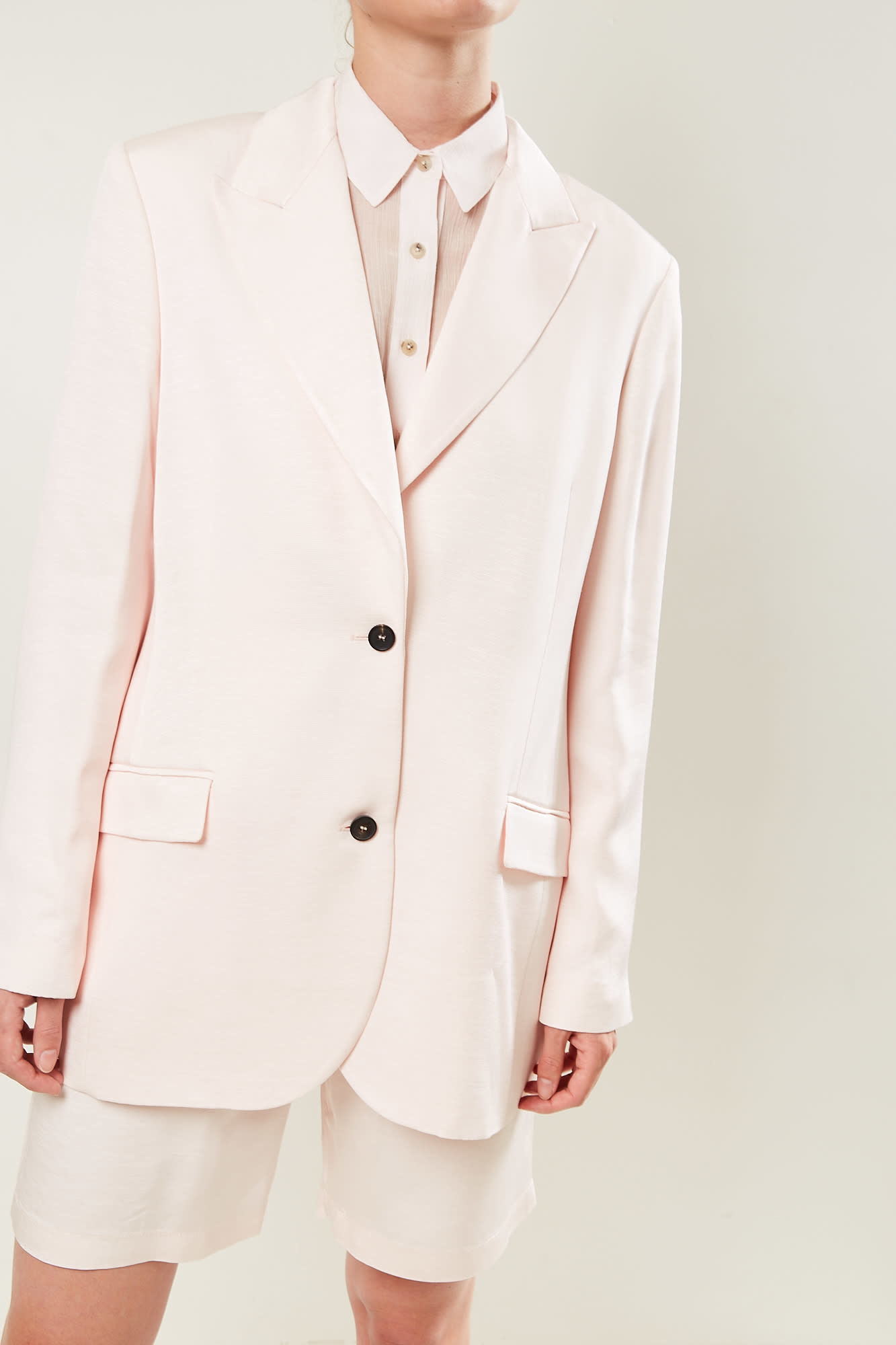 Frenken - Dropped flimsy suiting jacket