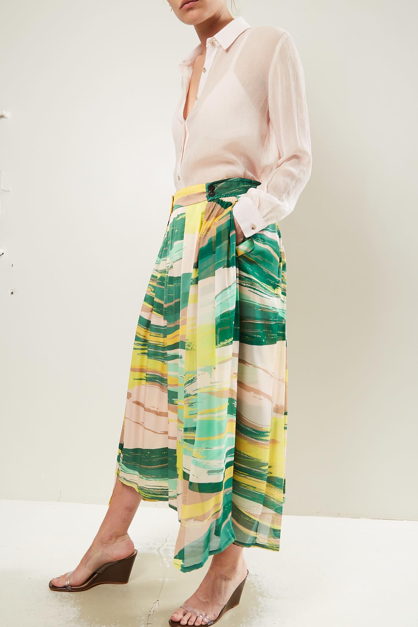 Frenken Realised printed georgette skirt