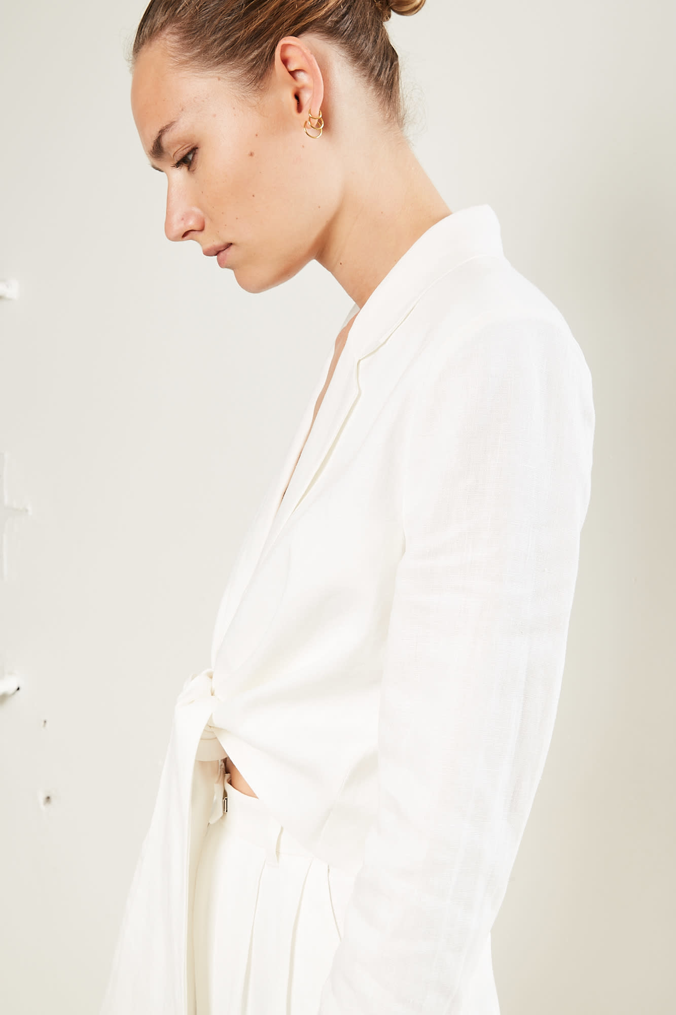 Mara Hoffman Catalina solid woven jacket