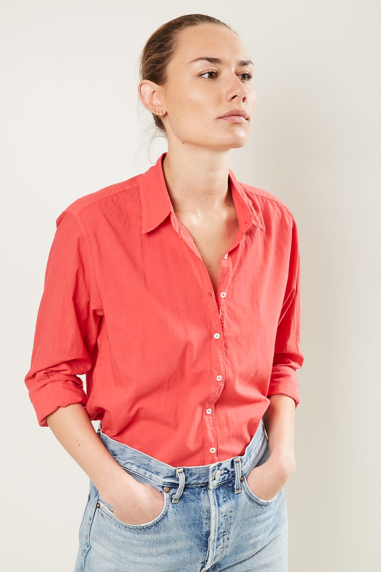 Xirena - Beau cotton poplin shirt old flame