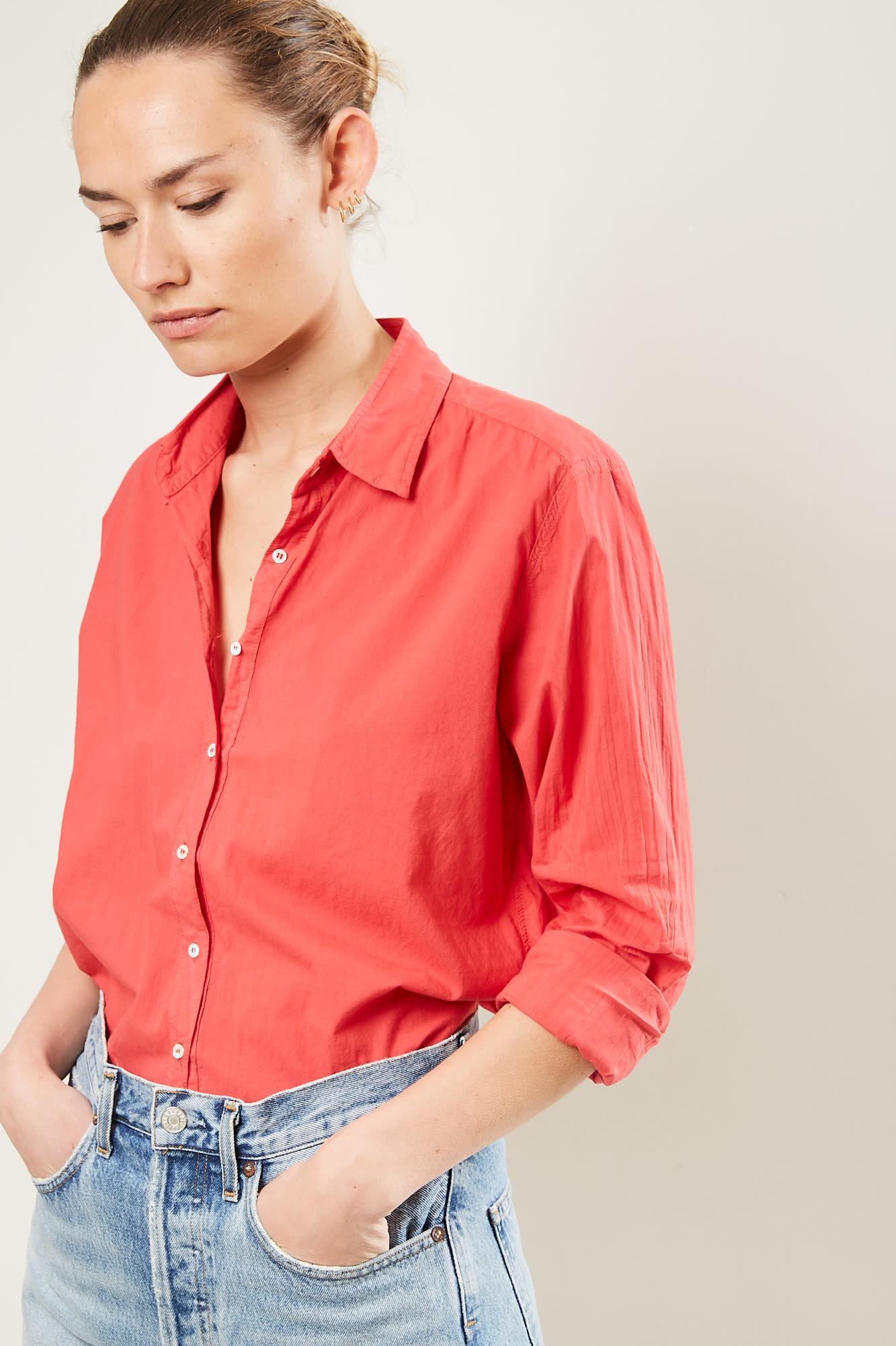 Xirena Beau cotton poplin shirt old flame