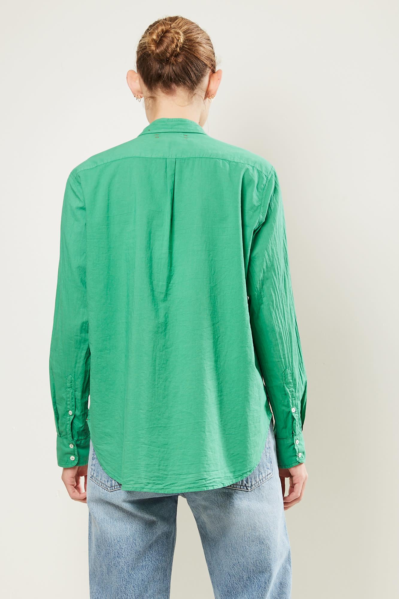 Xirena - Beau cotton poplin shirt Palm Green