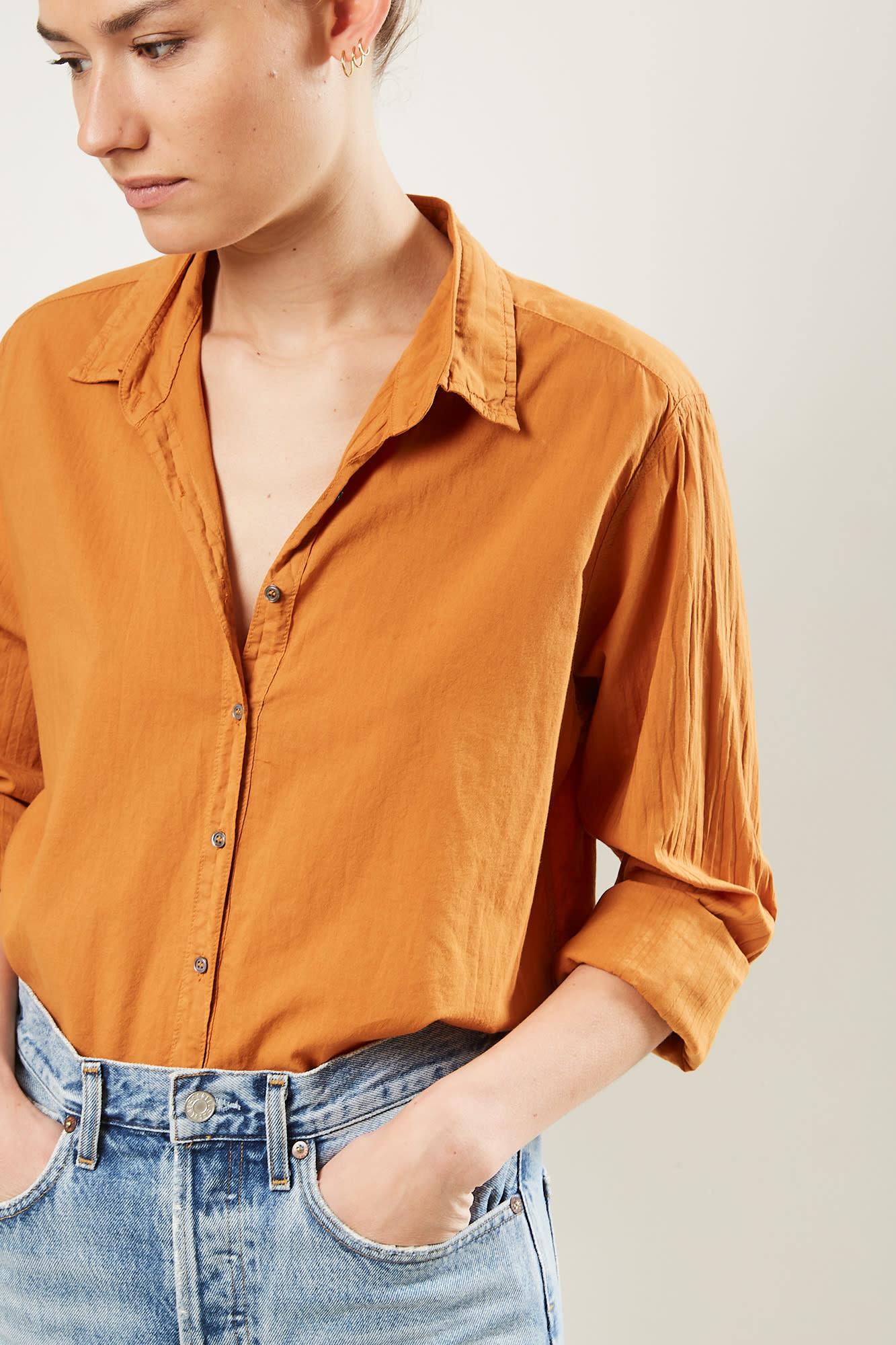 Xirena Beau cotton poplin shirt golden