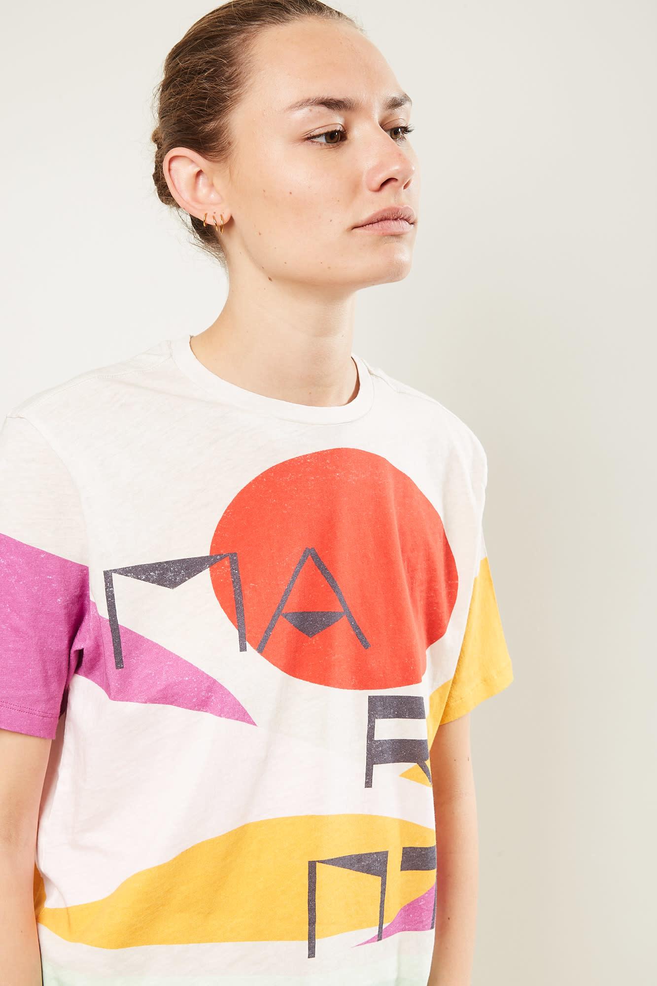 Isabel Marant Zewel graphic sunset tee shirt