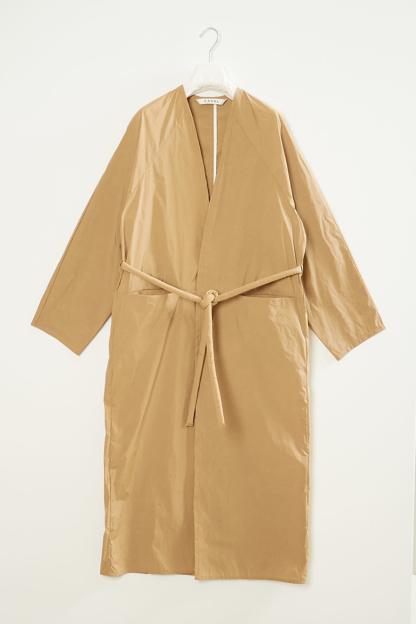 KASSL wrap front trench coat