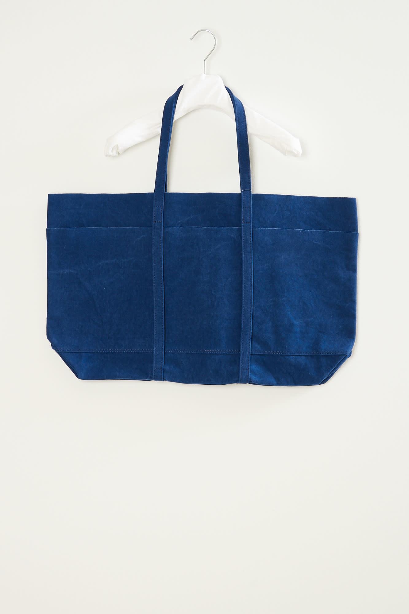 Amiacalva - Washed canvas 6 pocket tote large