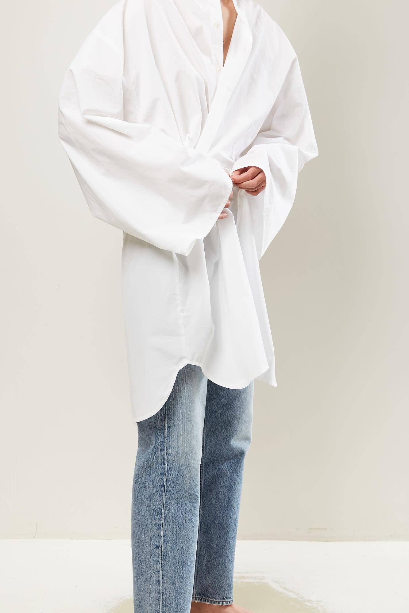 Monique van Heist - no10 white cotton shirt dress
