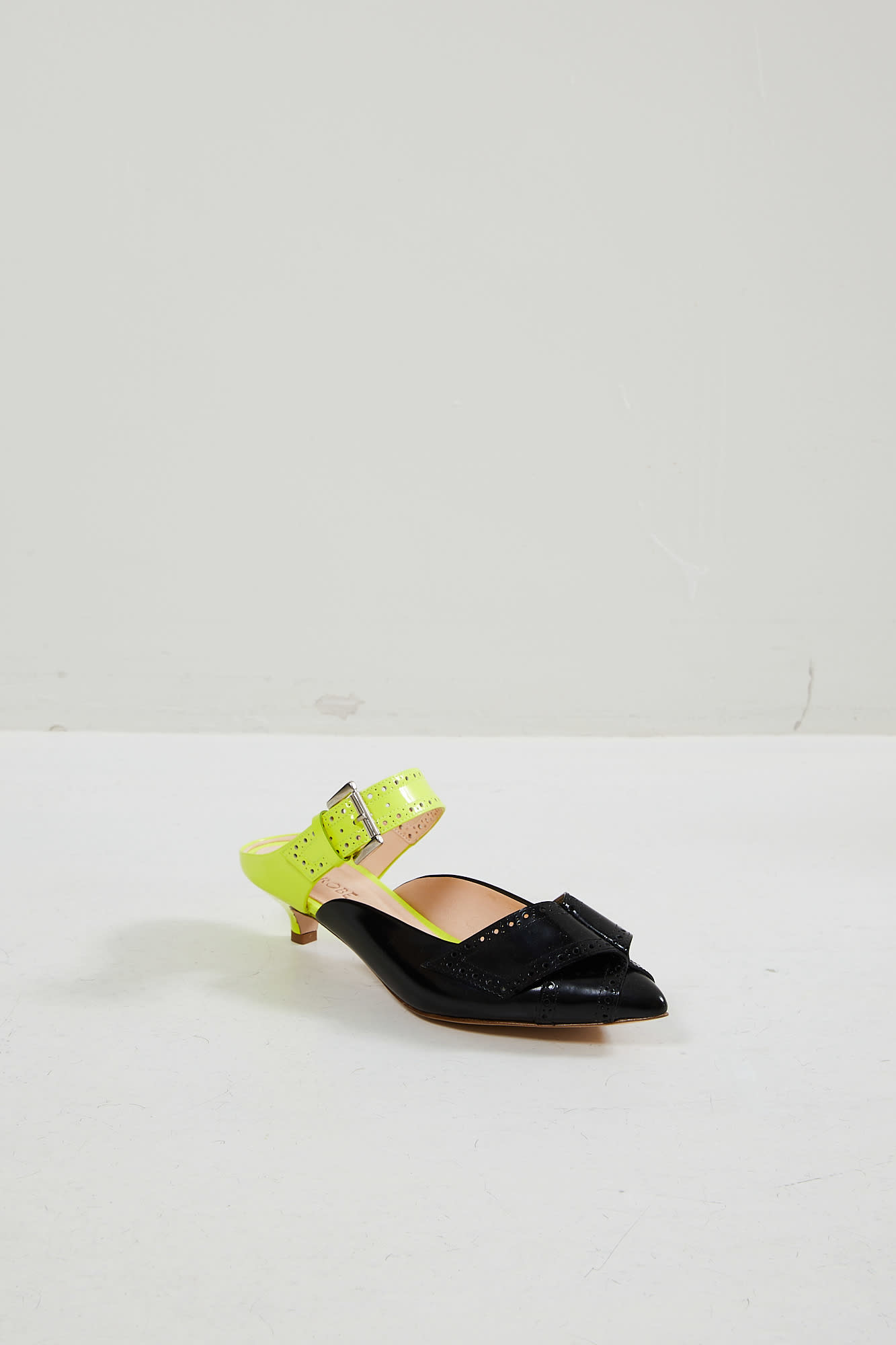 Morobé Jaclyn polished leather mules
