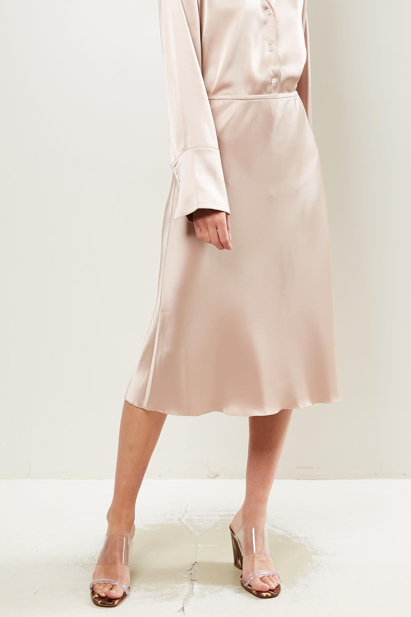 Nanushka Zarina slip satin skirt