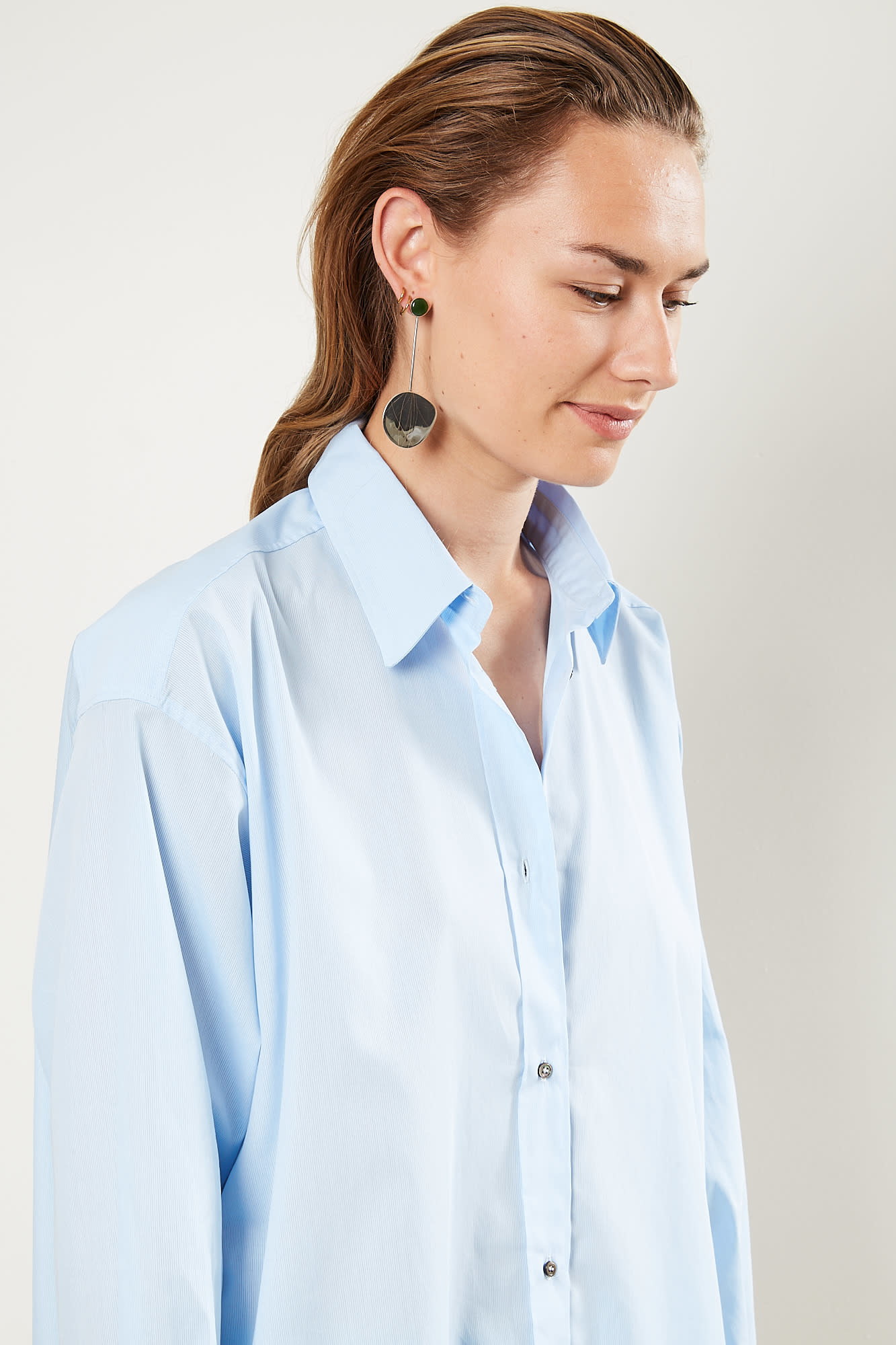 inDRESS - Oversize cotton shirt