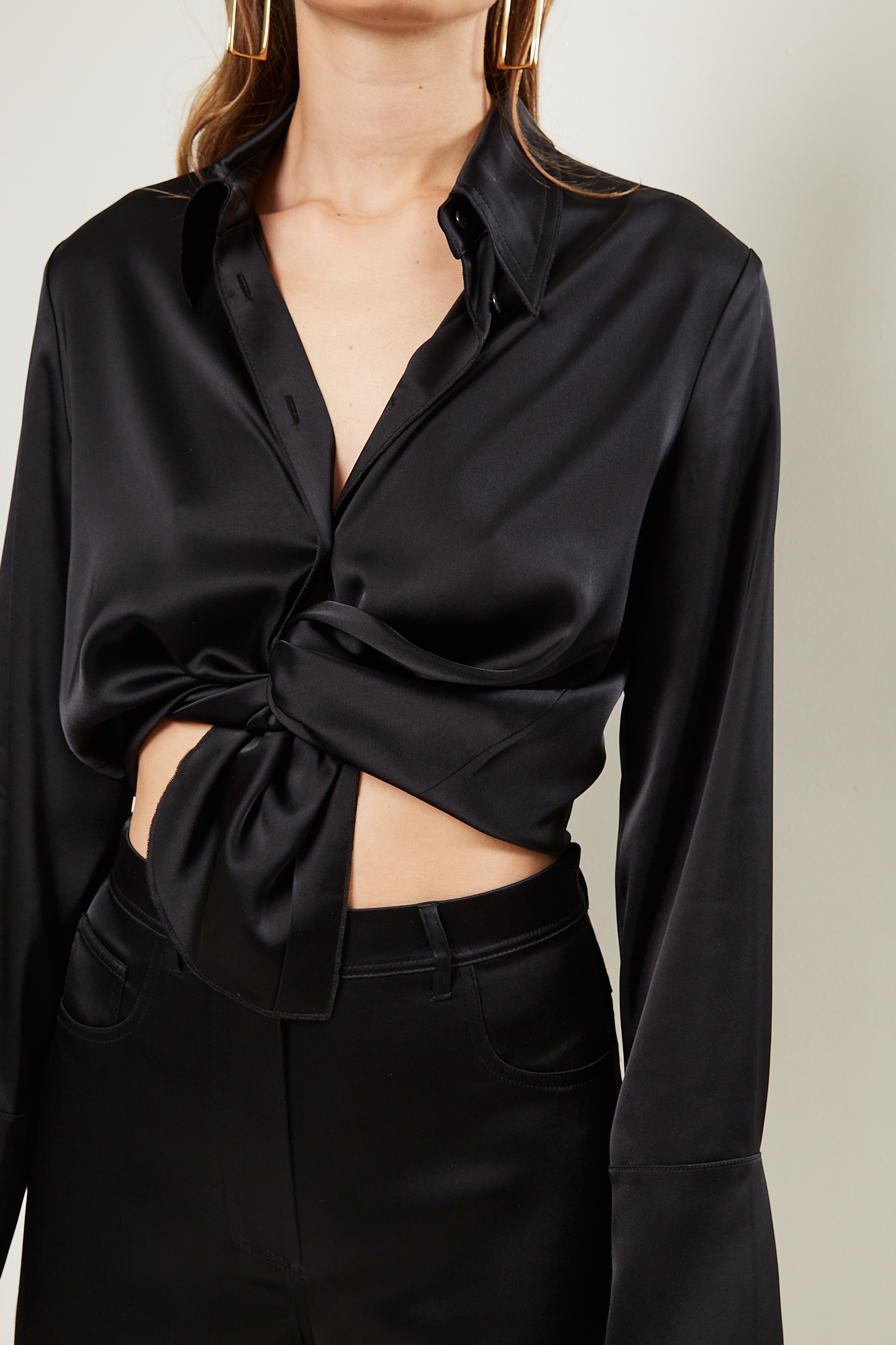 Nanushka - Mandine slip satin shirt