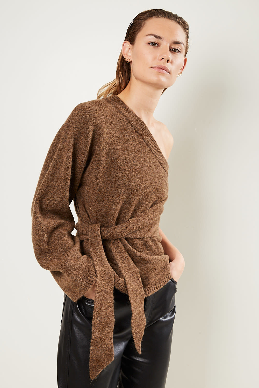 Nanushka Cleto fluffy knit top