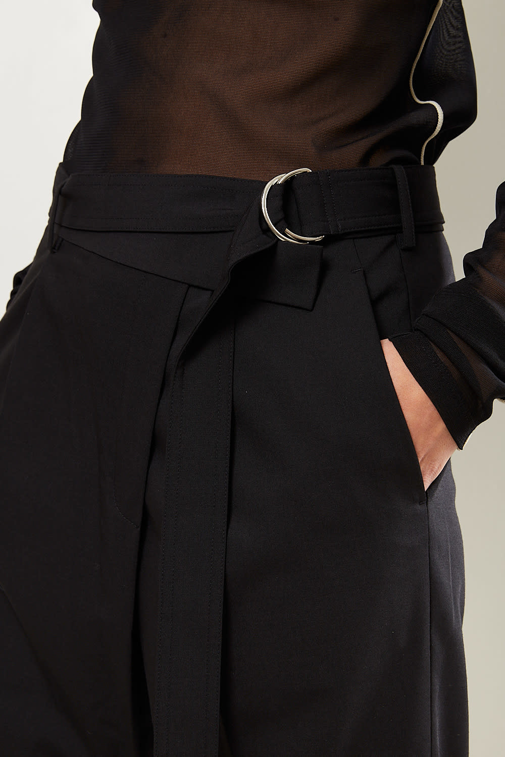 Helmut Lang - Crop wrap pants